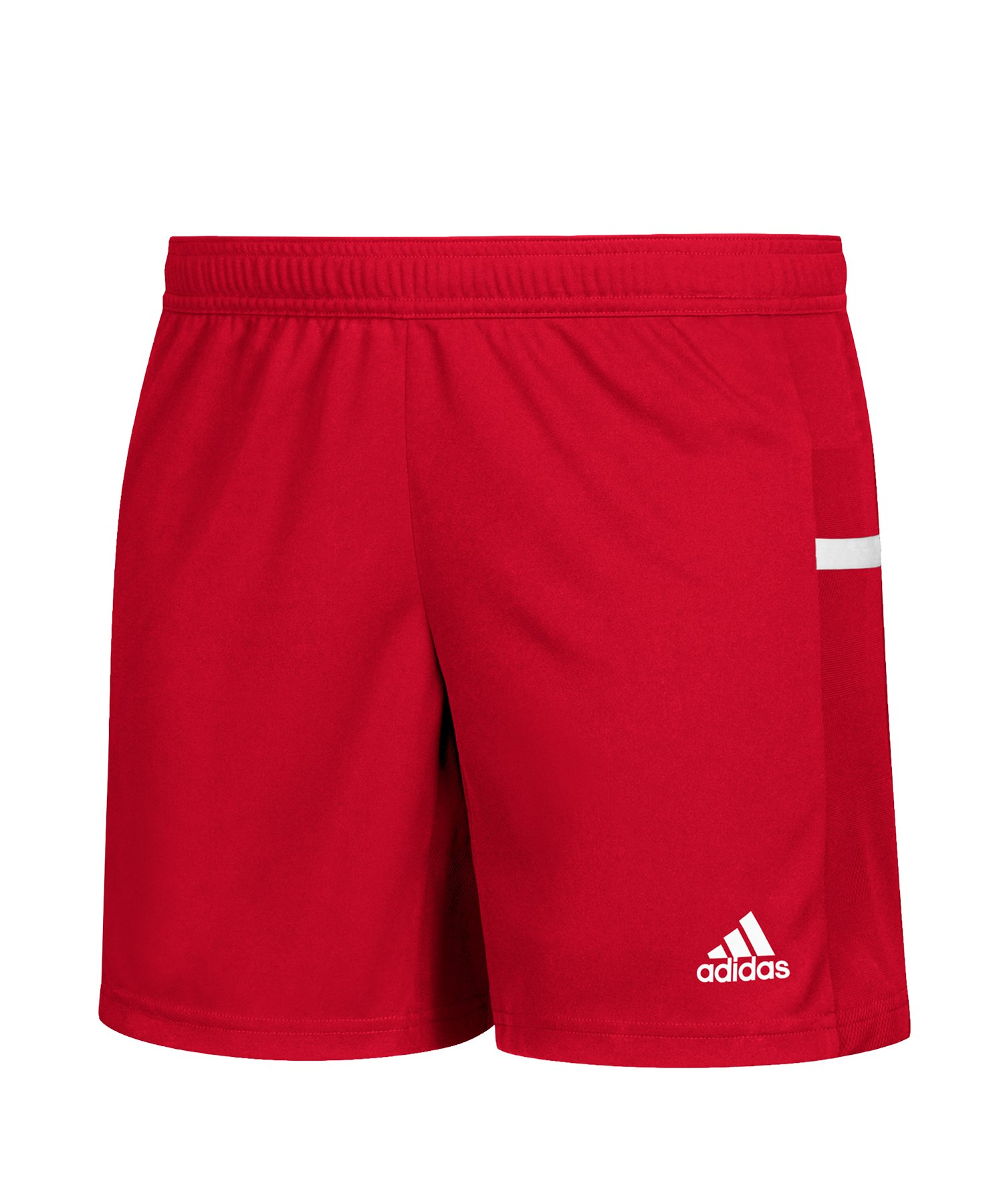 adidas Team 19 Knitted Short Damen Rot Weiss - rot
