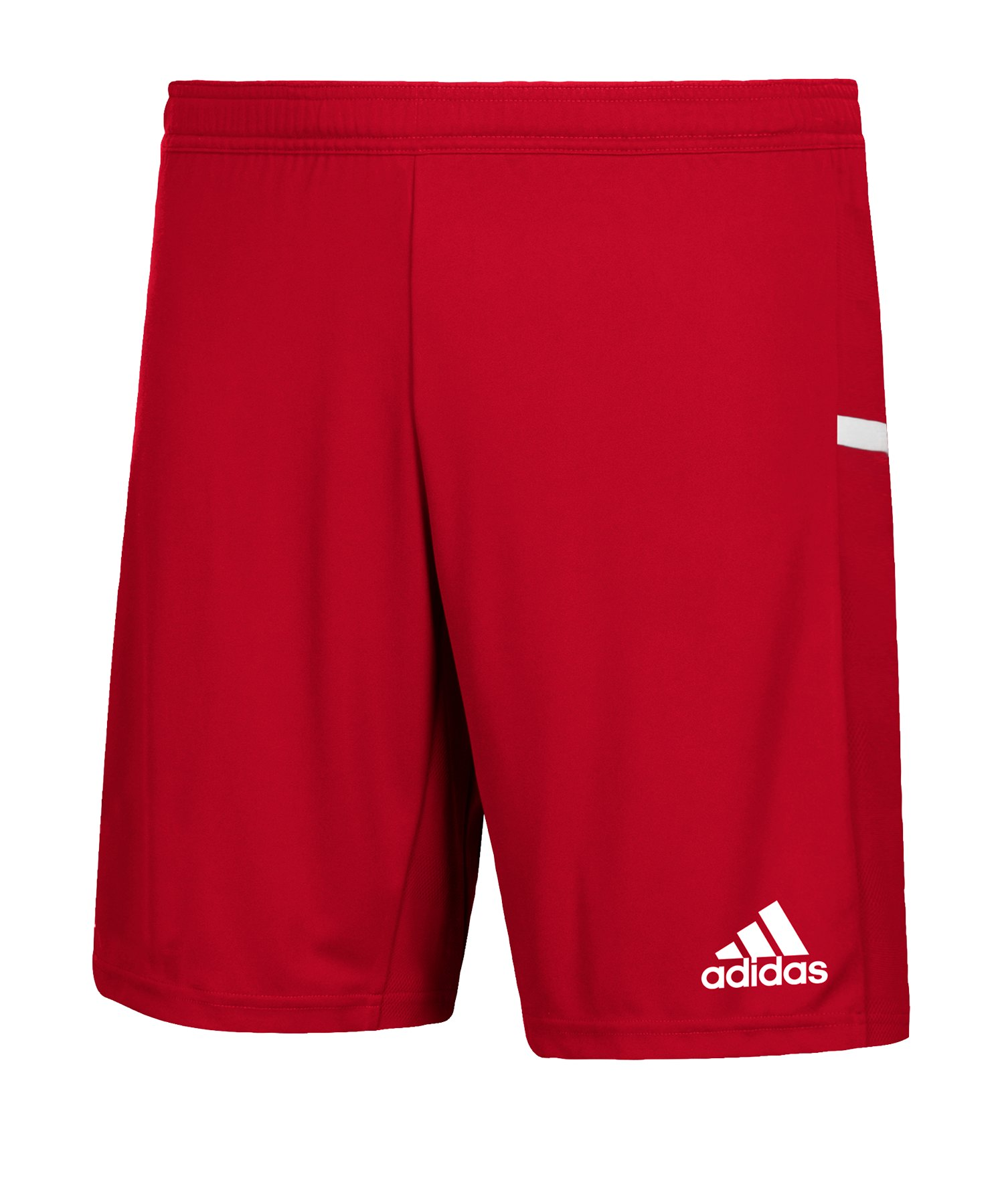 adidas Team 19 Knitted Short Kids Rot Weiss - rot