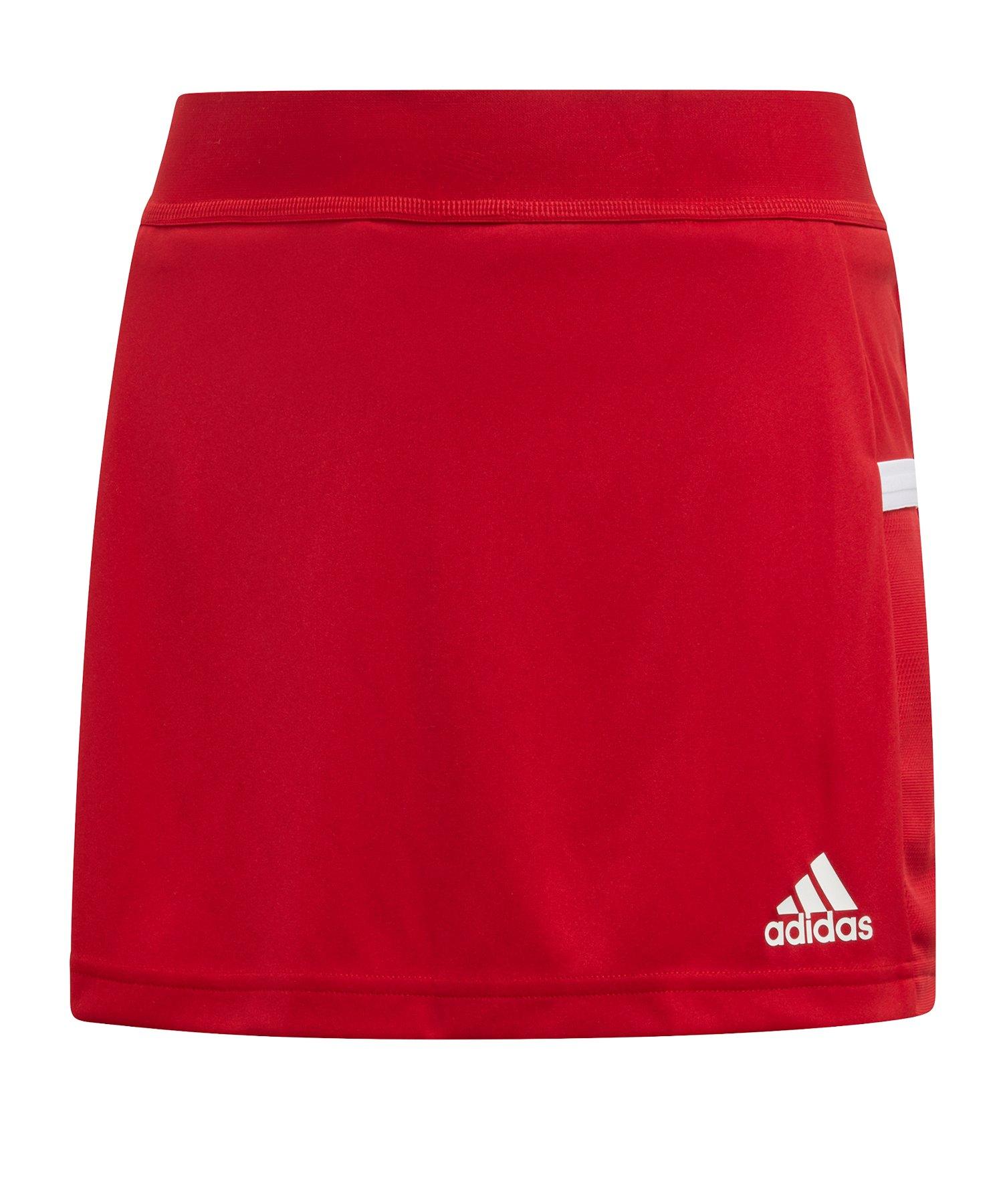 adidas Team 19 Skirt Rock Kids Rot Weiss - rot
