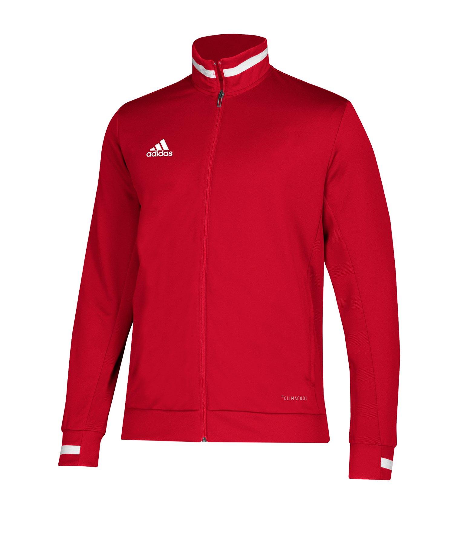 adidas Team 19 Track Jacket Jacke Rot Weiss - rot