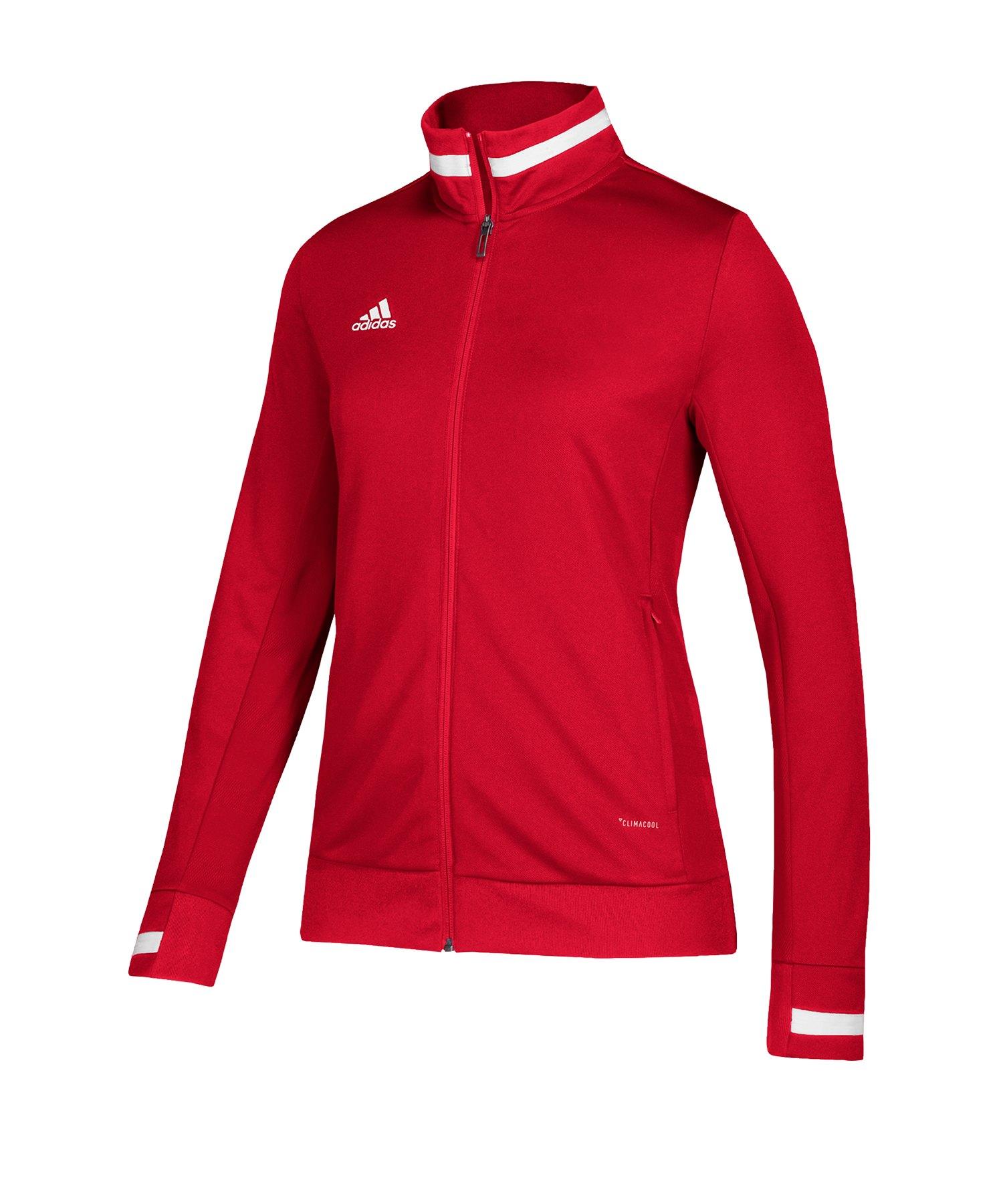 adidas Team 19 Track Jacket Damen Rot Weiss - rot