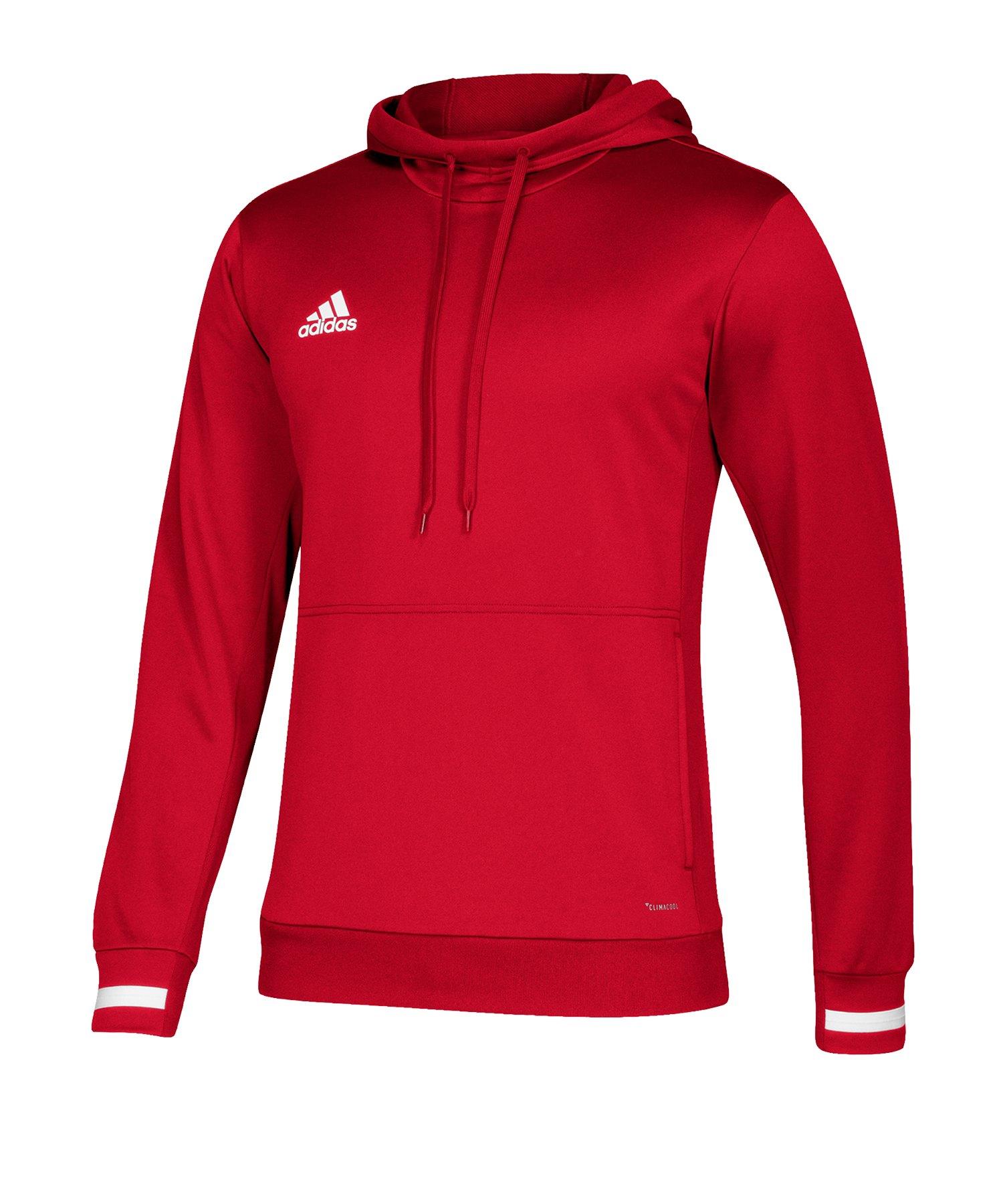 adidas Team 19 Kapuzensweatshirt Rot Weiss - rot