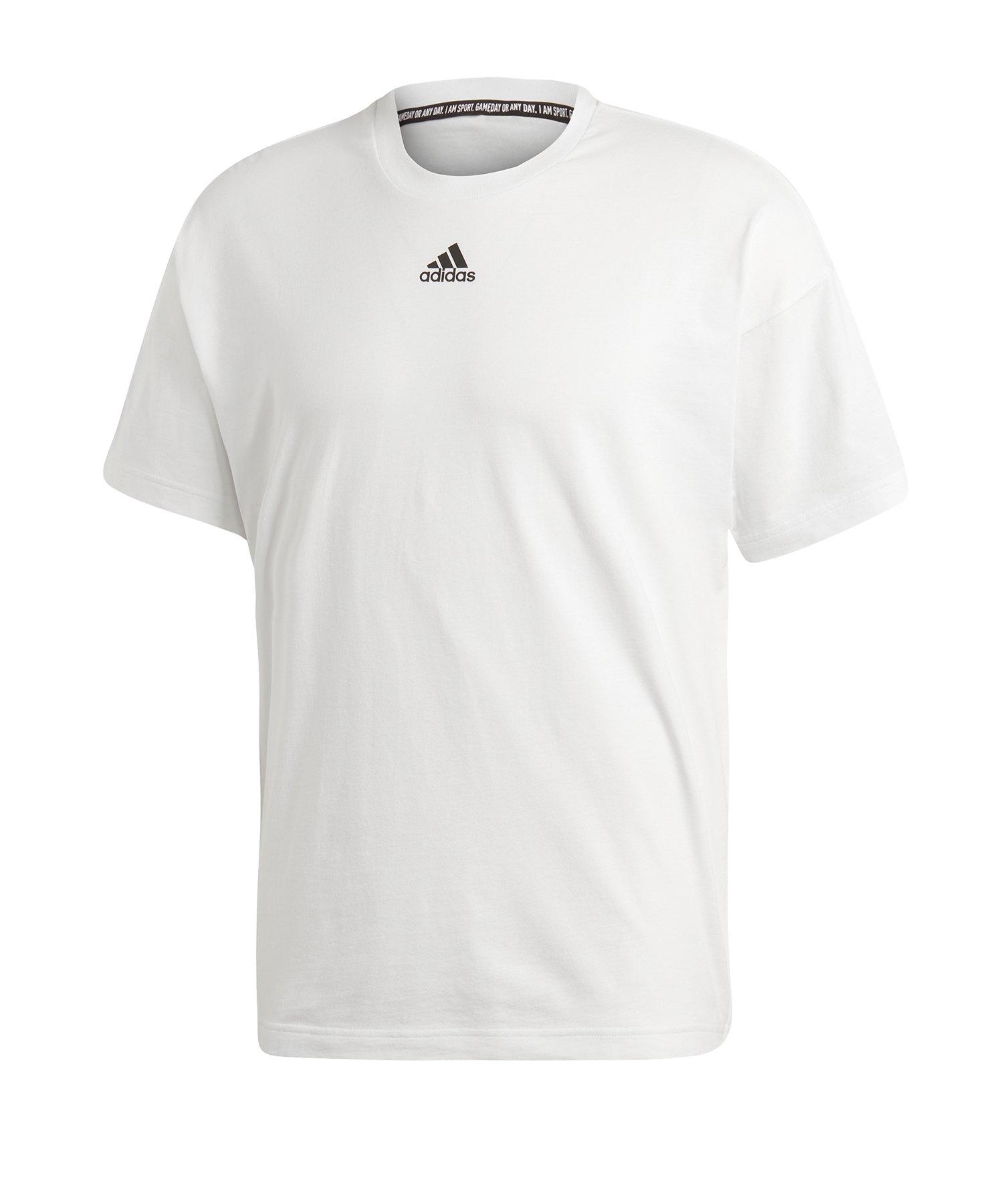 adidas 3S Tee T-Shirt Weiss Schwarz - weiss