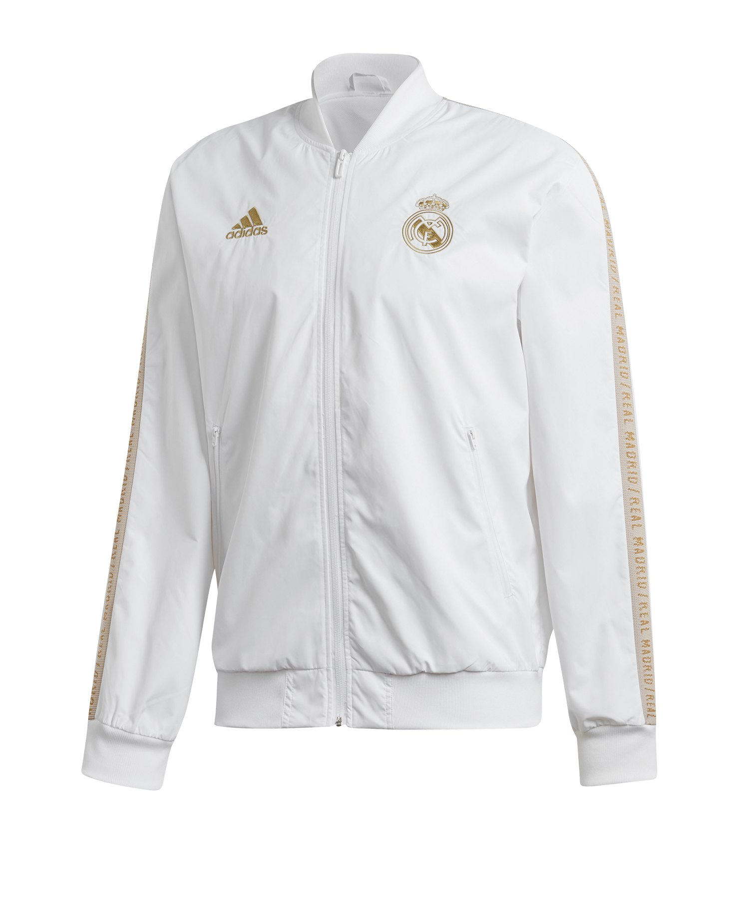 adidas Real Madrid Anthem Jacket Weiss - Weiss