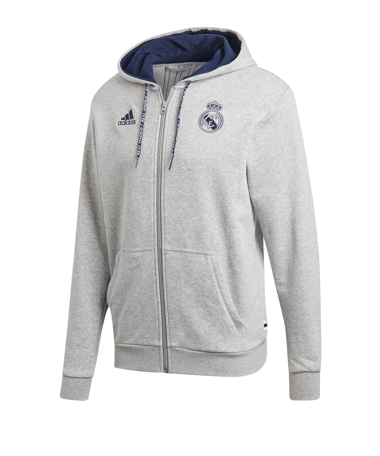 adidas Real Madrid Kapuzenjacke Grau - Grau