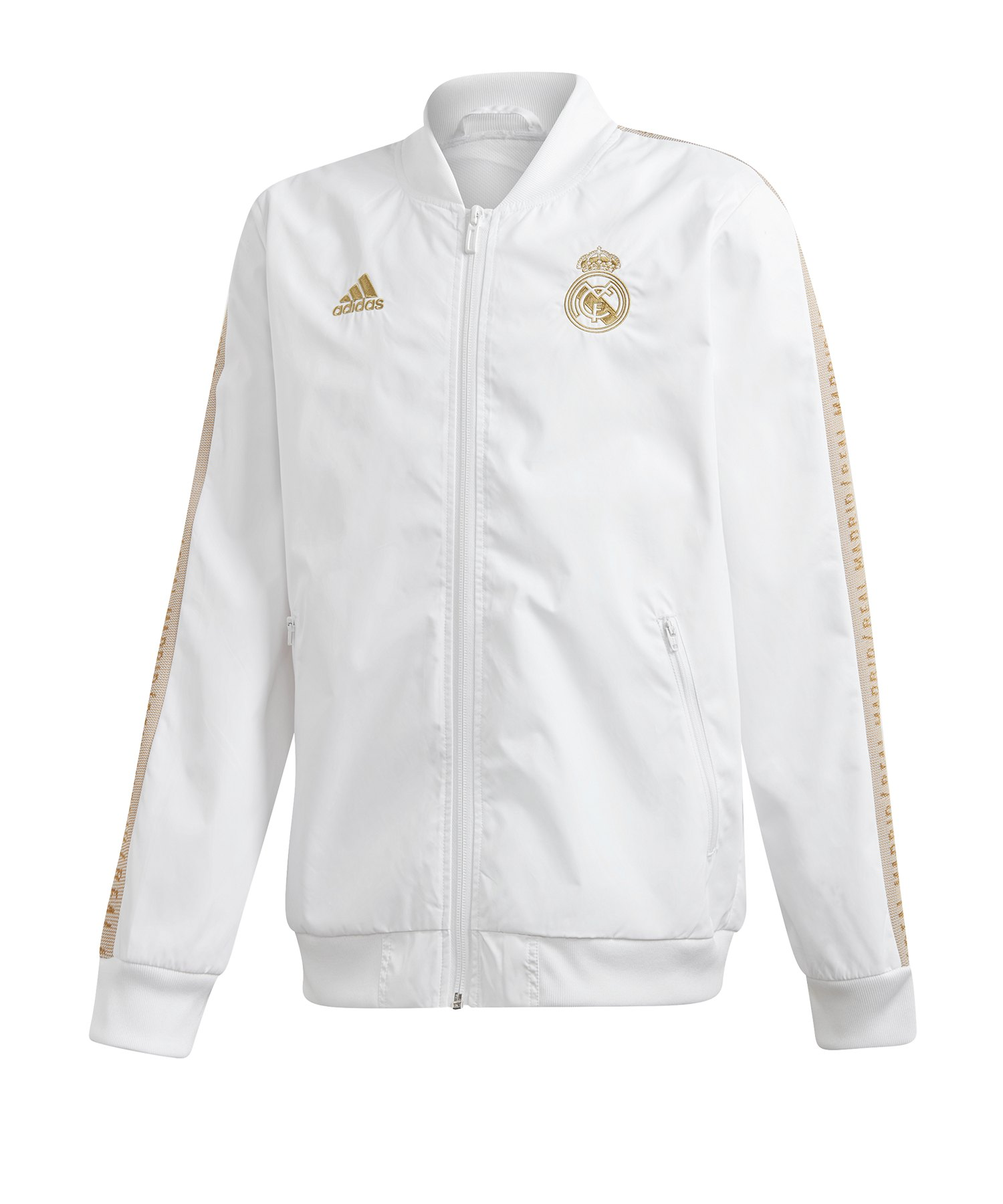 adidas Real Madrid Anthem jacket Kids Weiss - Weiss