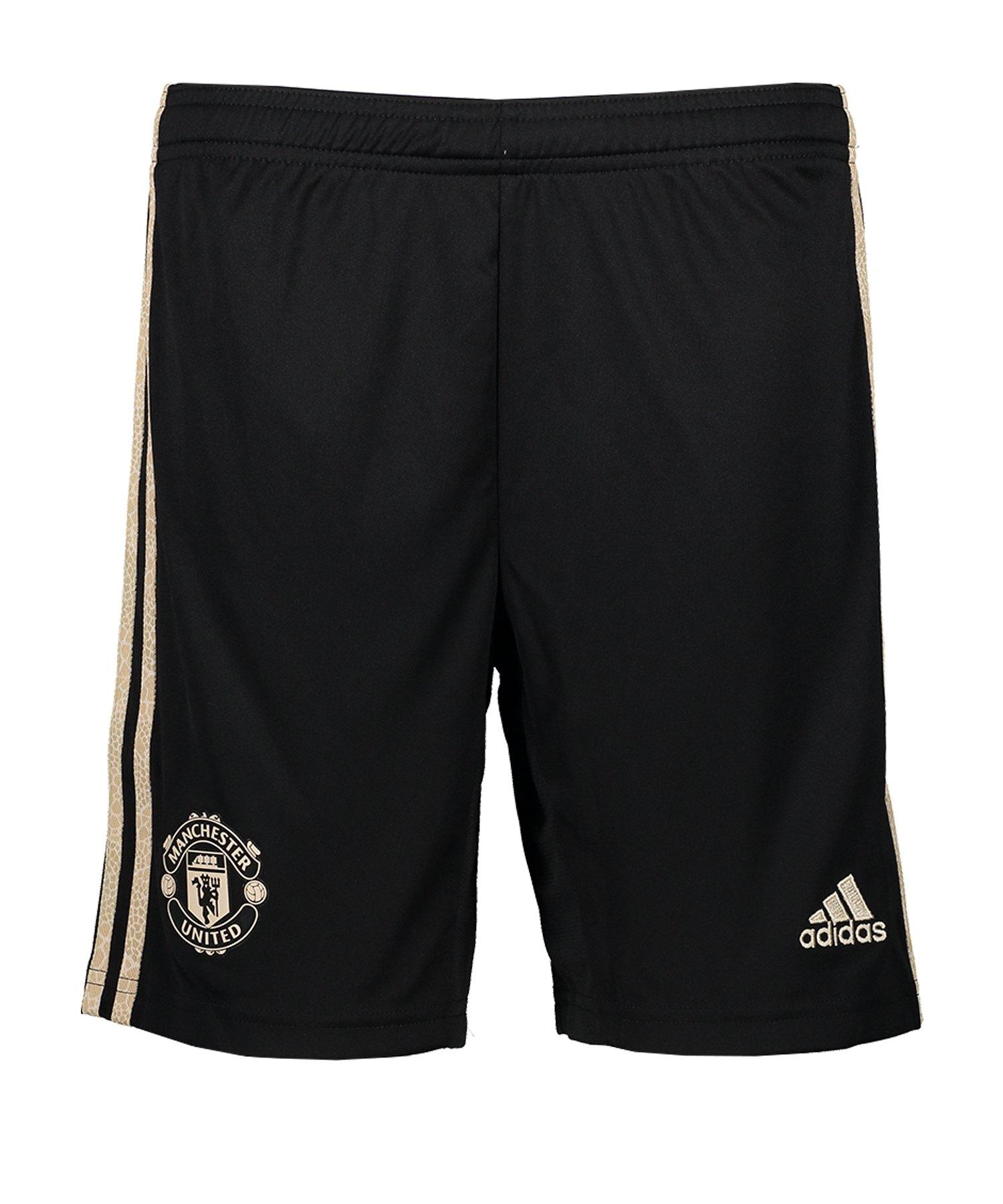 adidas Manchester United Short Away 2019/2020 Kids - Schwarz