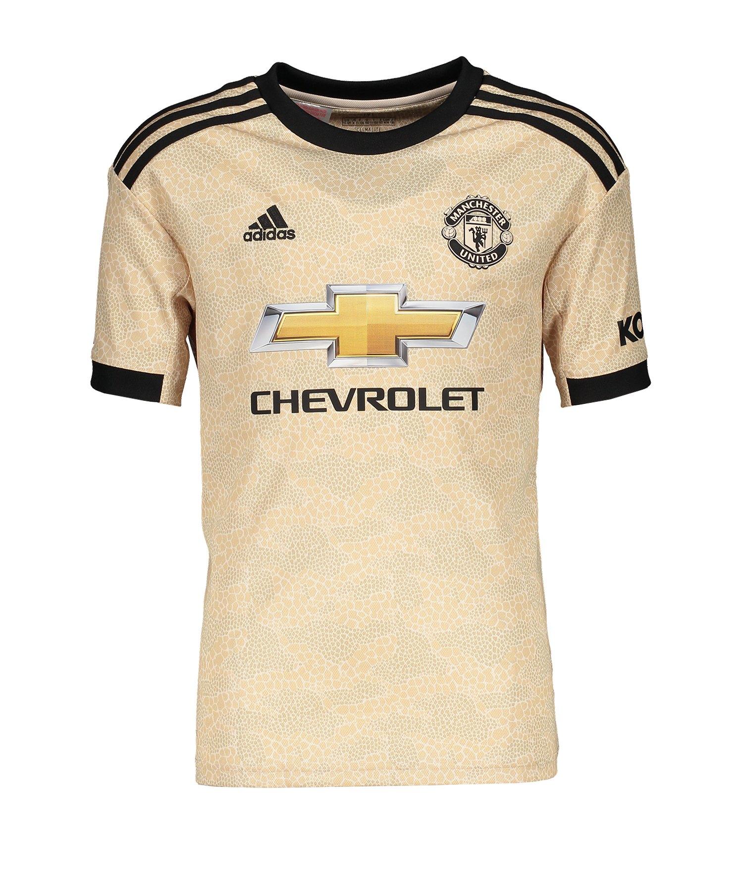 adidas Manchester United Trikot Away 2019/2020 Kids - beige