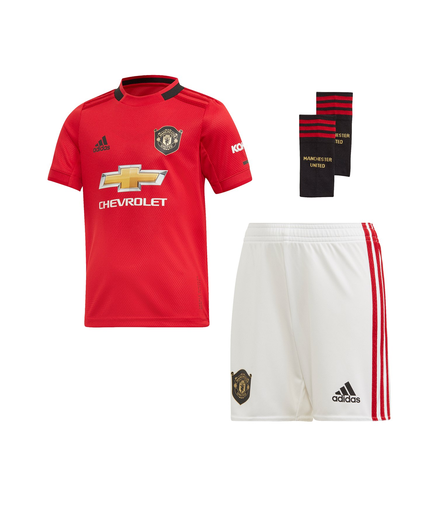 adidas Manchester United Minikit Home 2019/2020 - Rot