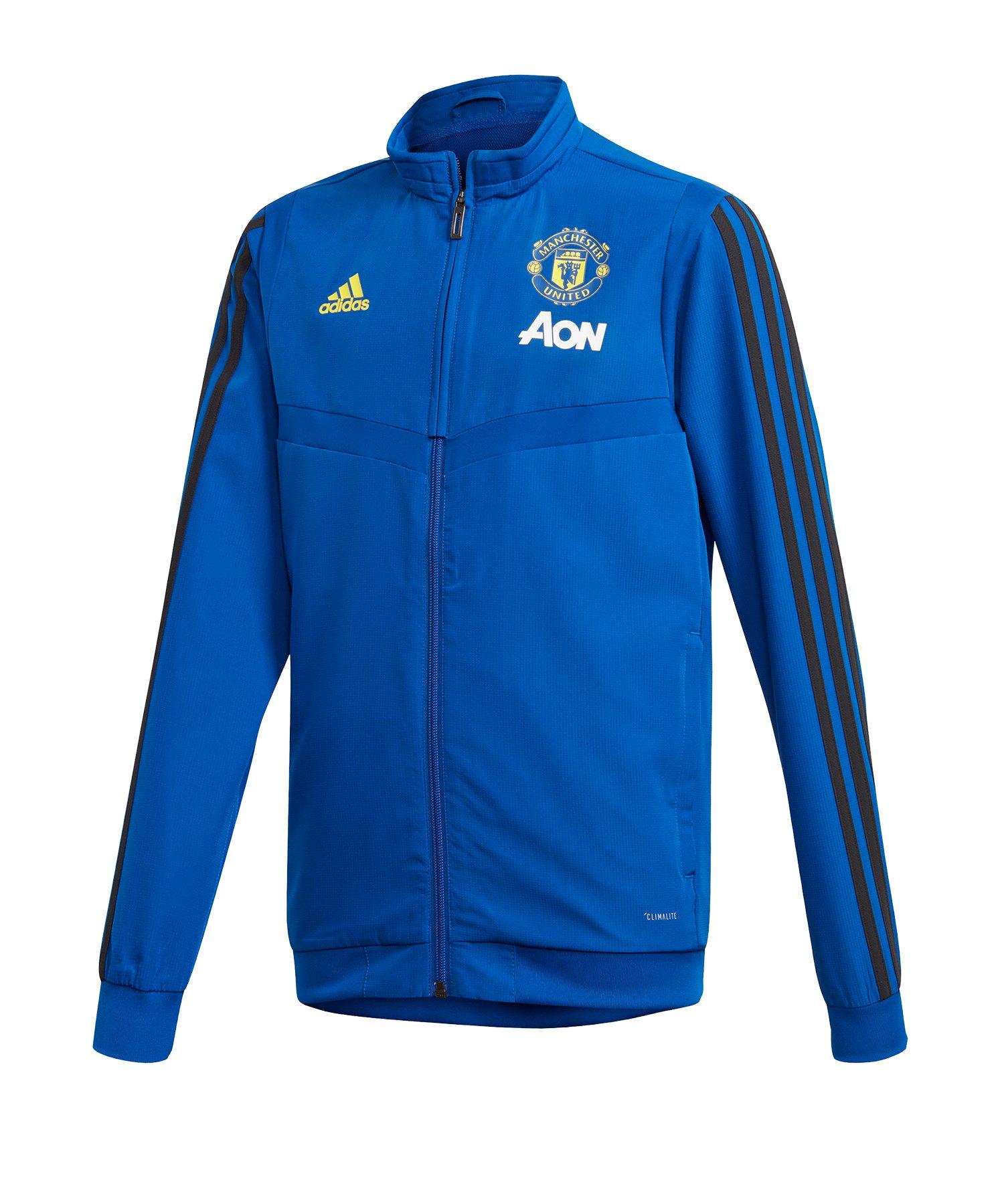 adidas Manchester United Präsi-Jacke Kids Blau - Blau