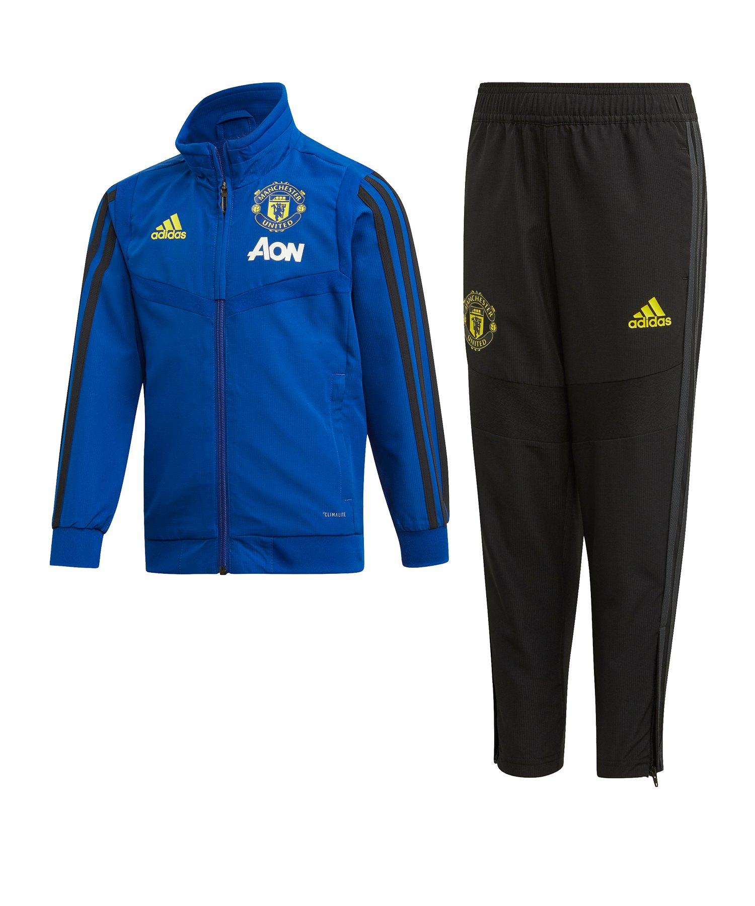 adidas Manchester United Trainingsanzug Kids Blau - Blau