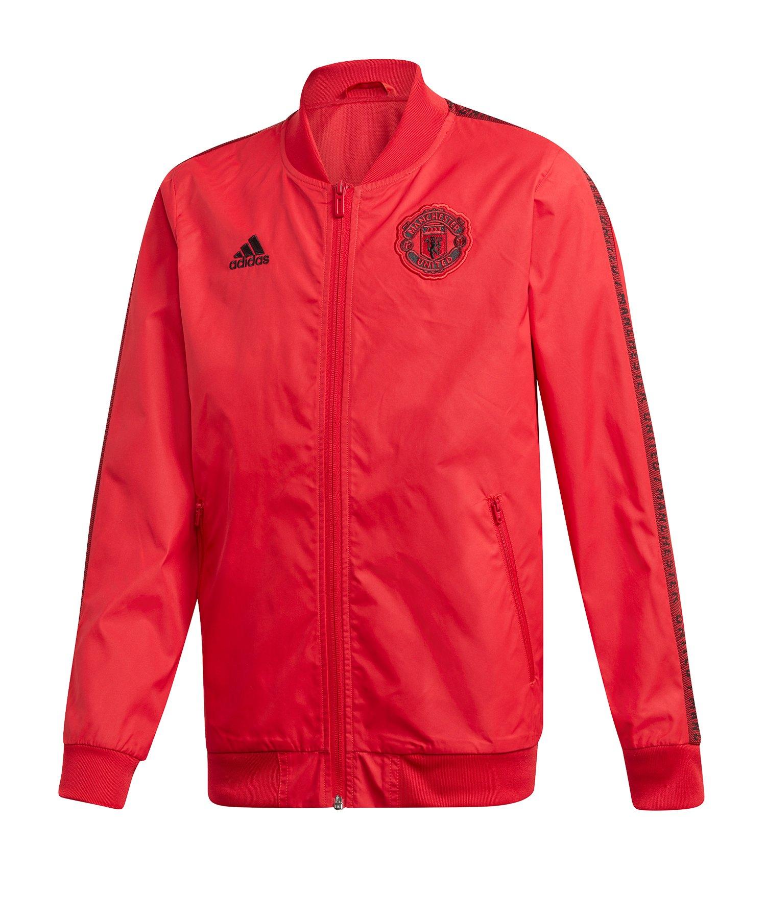 adidas Manchester United Anthem Jacket Kids Rot - Rot