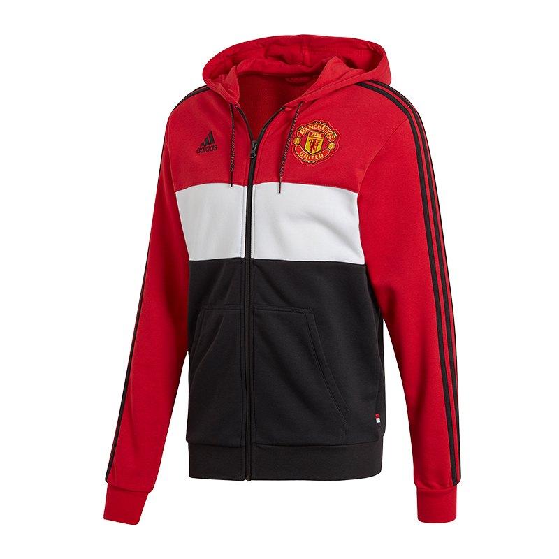 Schwarz Manchester Kapuzenjacke United Adidas Rot 5L3jAR4q