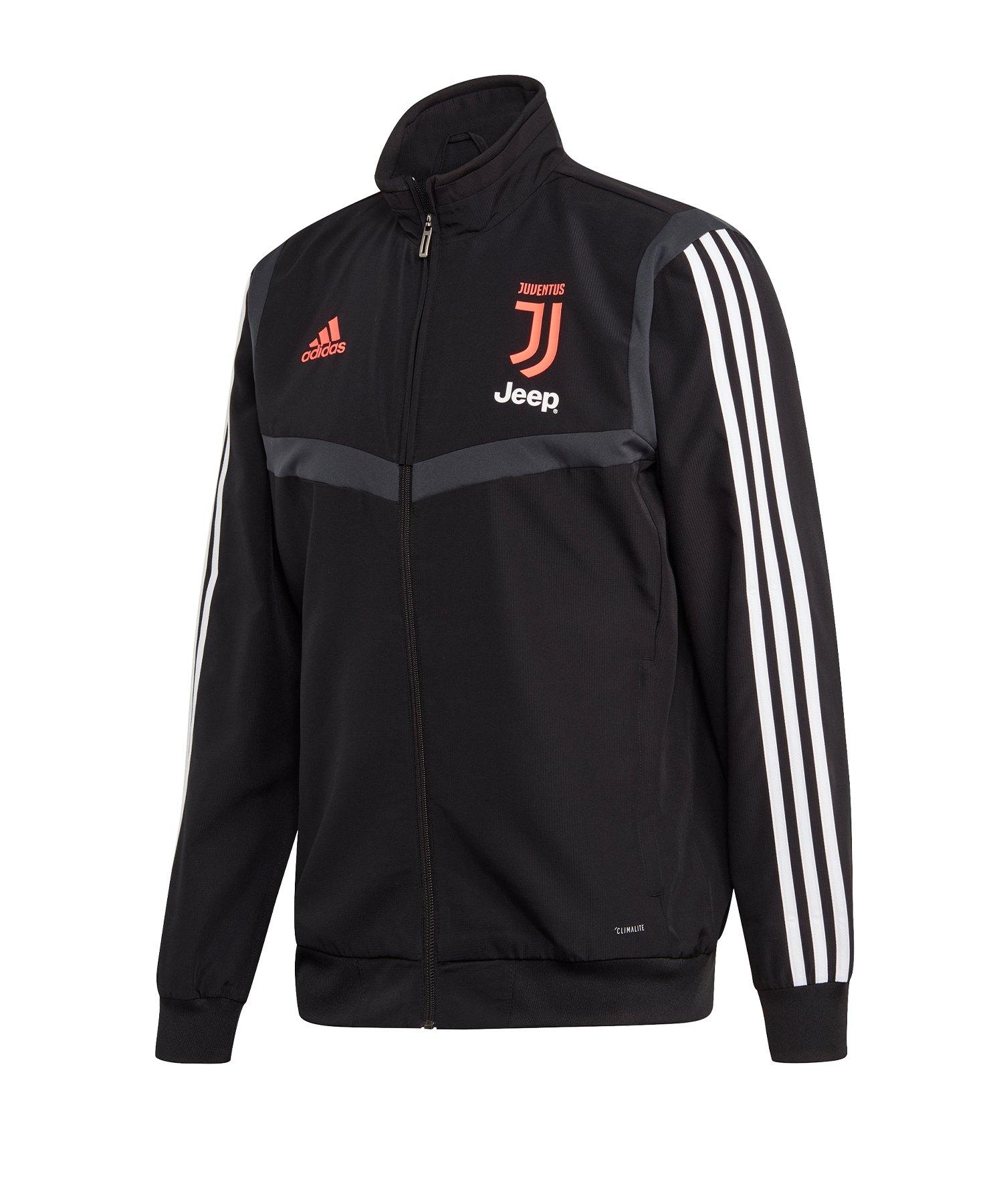 adidas Juventus Turin Präsentationsjacke Schwarz - Schwarz