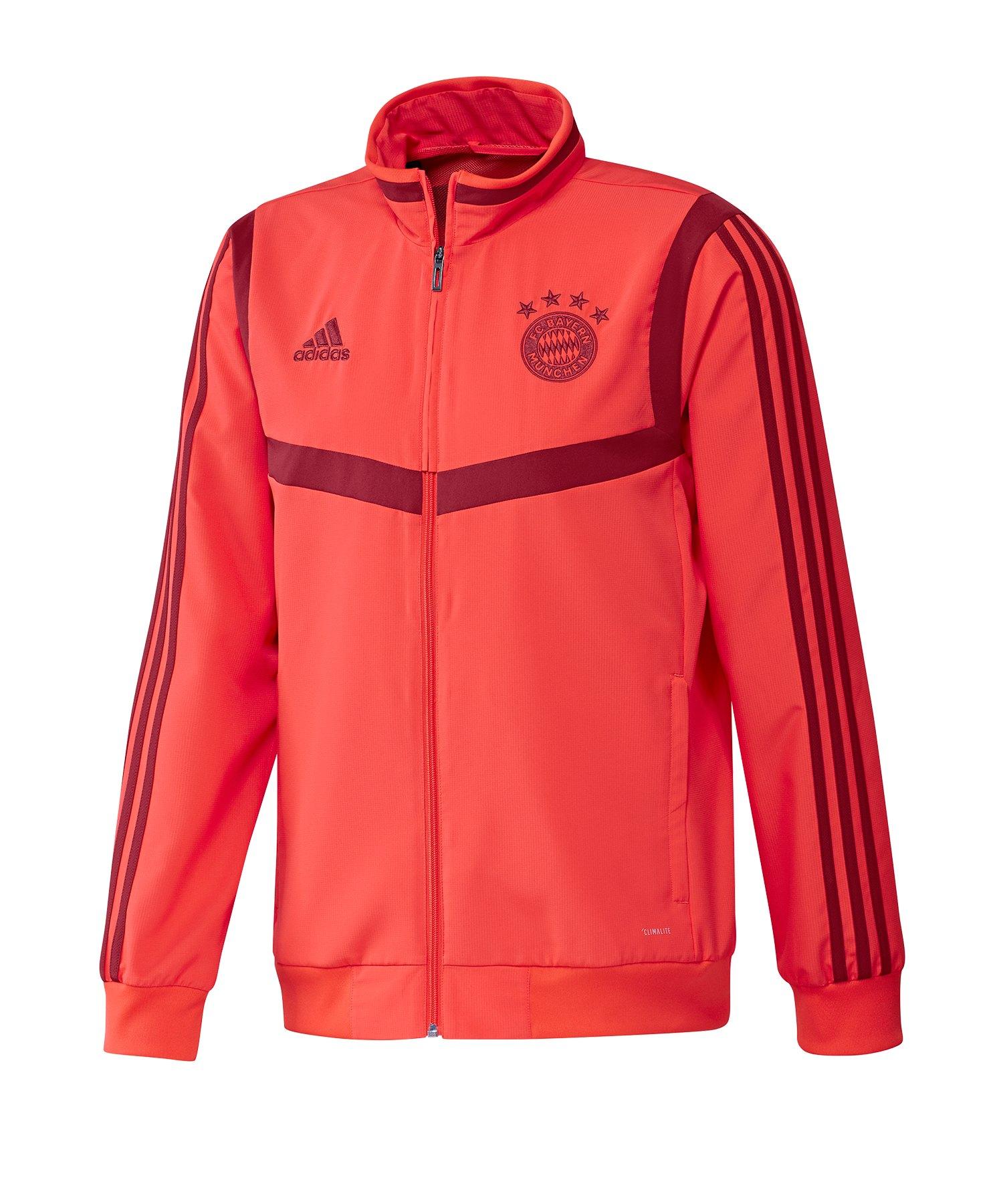 adidas FC Bayern München Präsentationsjacke Rot - Rot