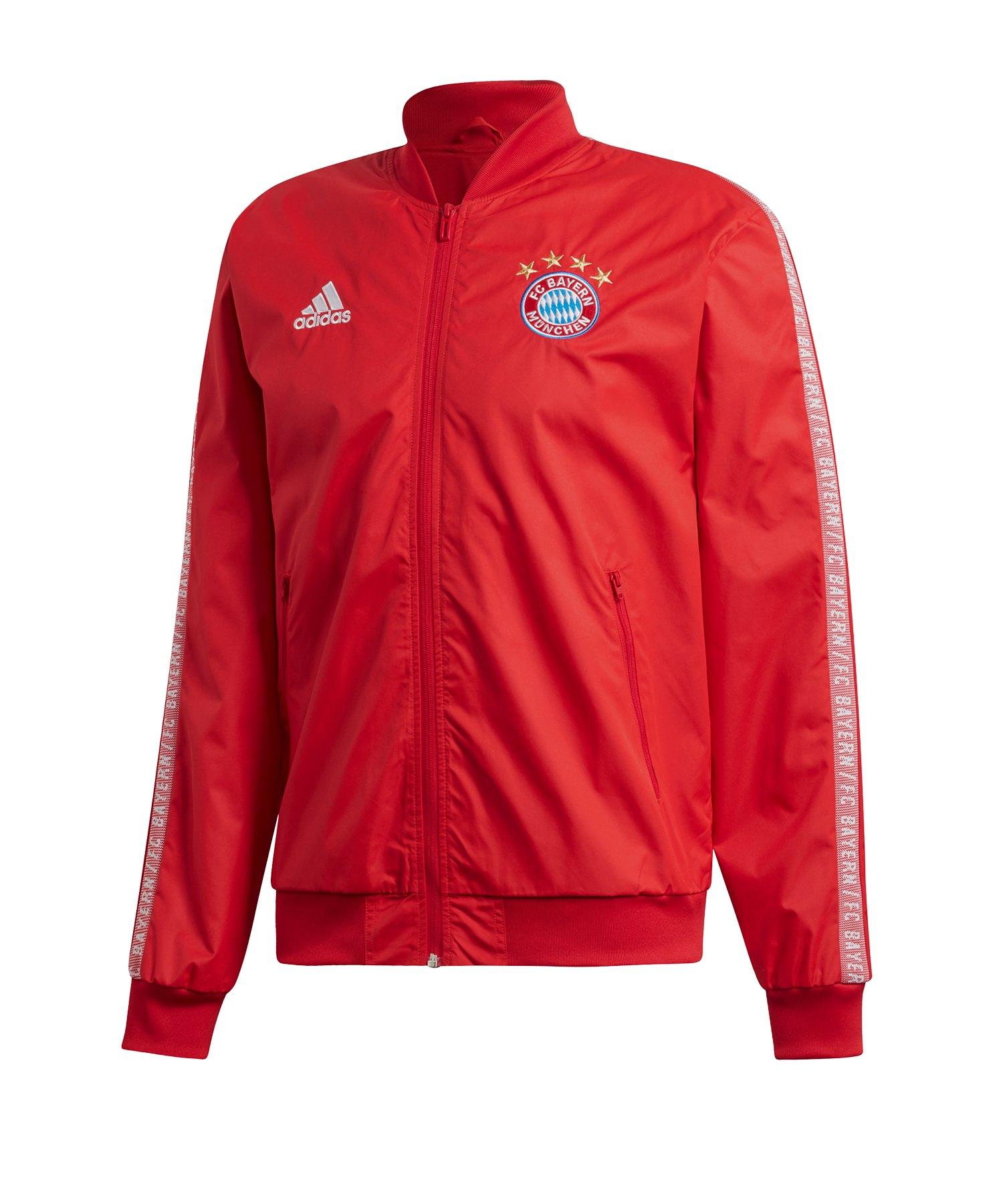 adidas FC Bayern München Anthem Jacket Jacke Rot - Rot