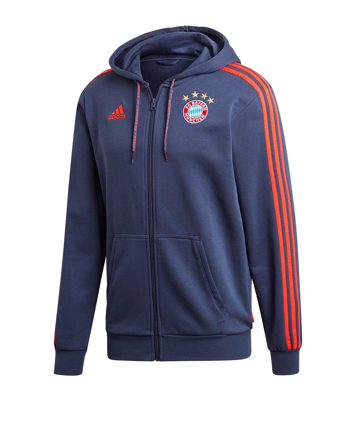 adidas FC Bayern München Kapuzenjacke Blau - blau