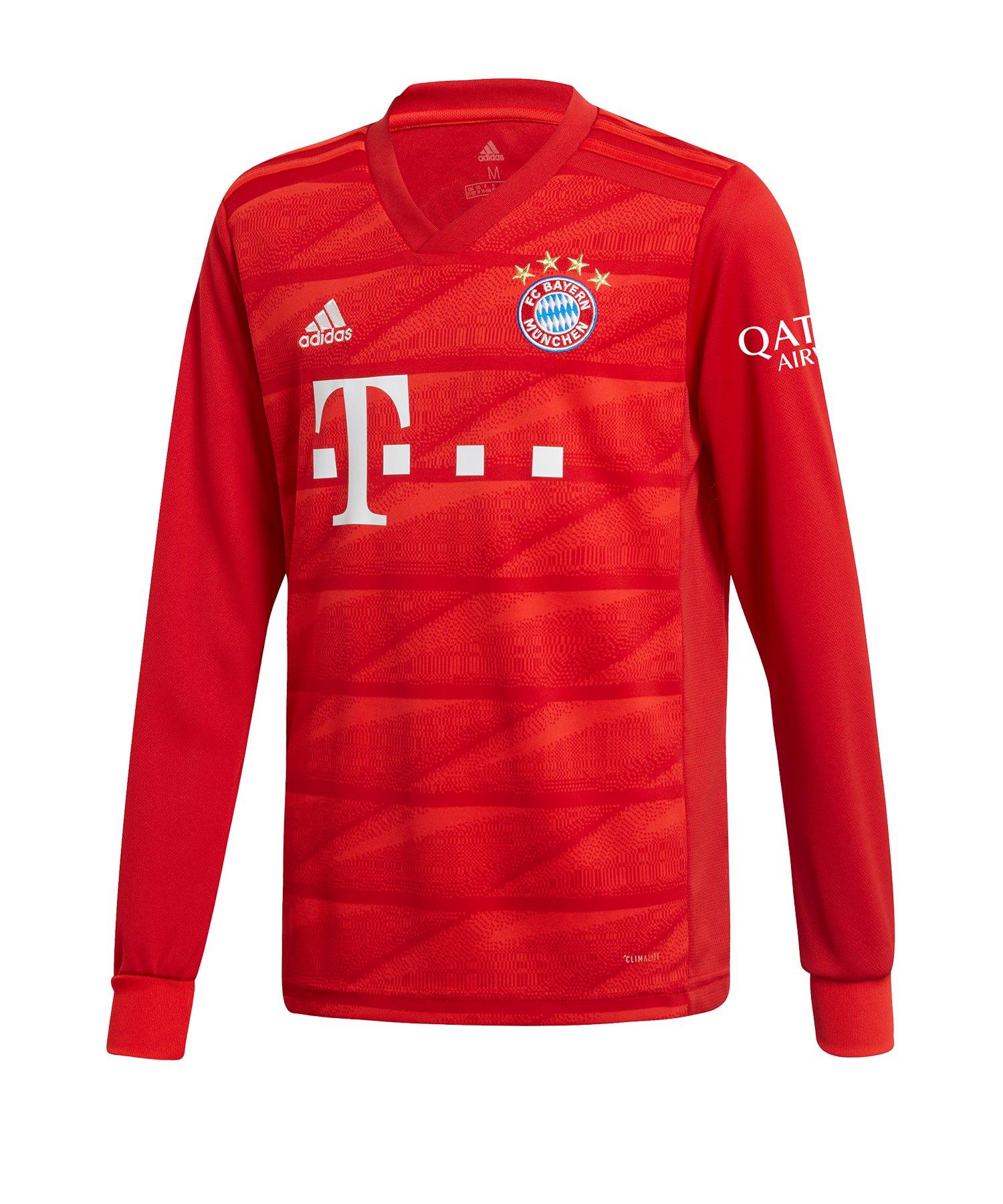 adidas FC Bayern München Trikot Home LA 2019/2020 Kids Rot - Rot