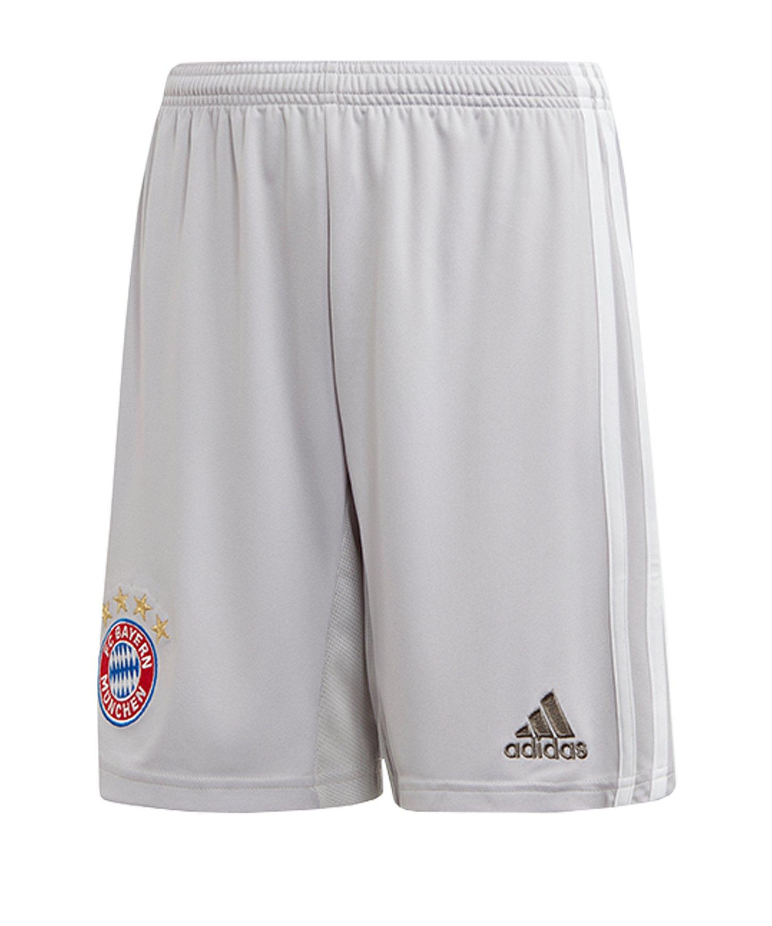 adidas FC Bayern München Short Away 2019/2020 Kids - grau