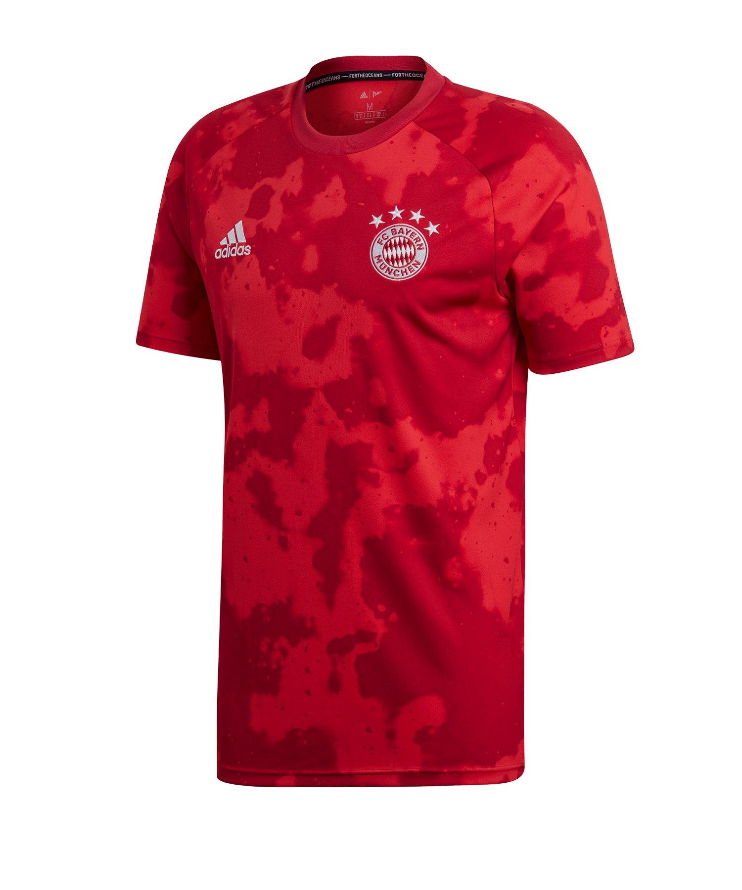 adidas FC Bayern München Prematch Shirt Rot - rot