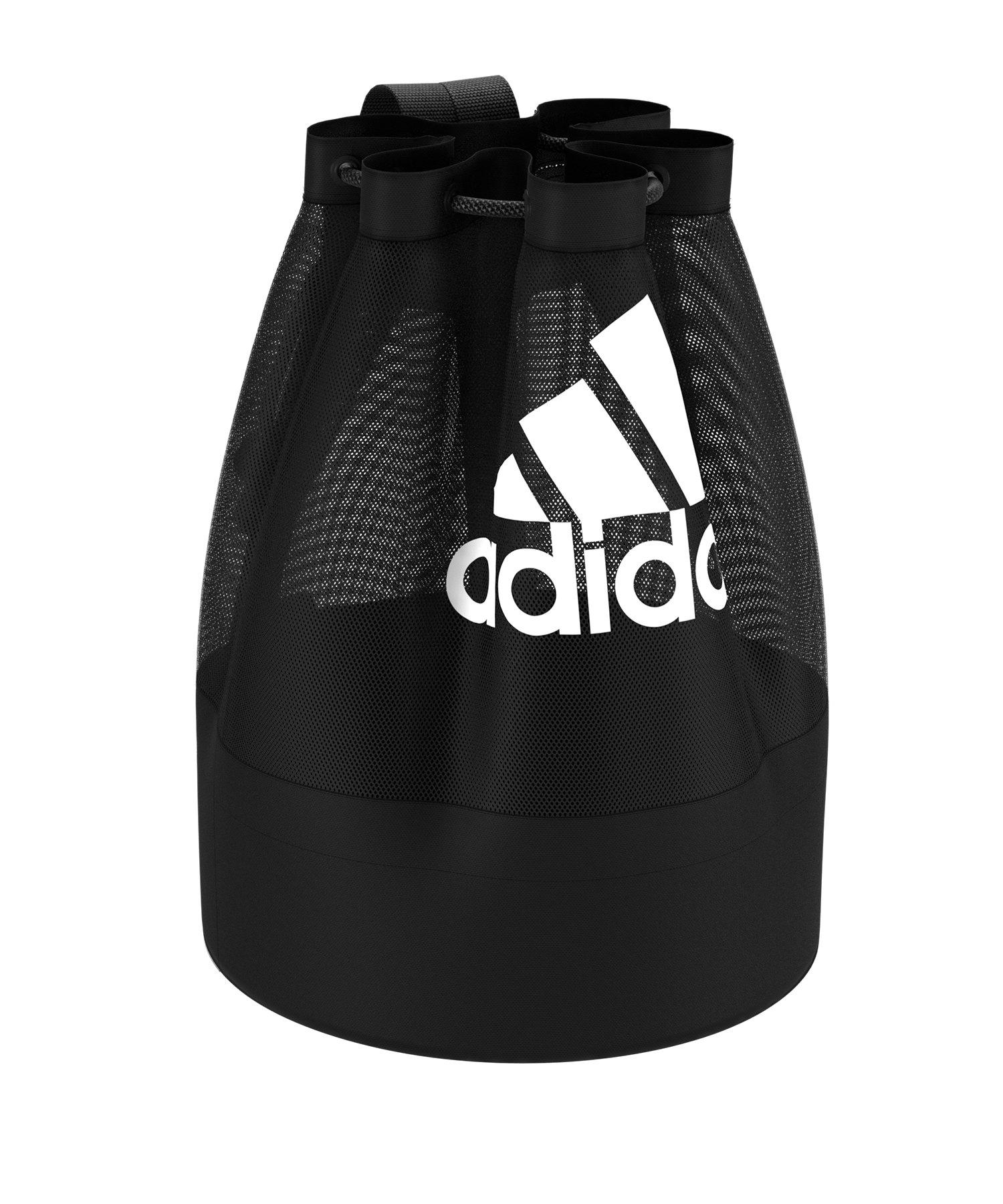 adidas Ballnet Ballnetz Schwarz Weiss - schwarz