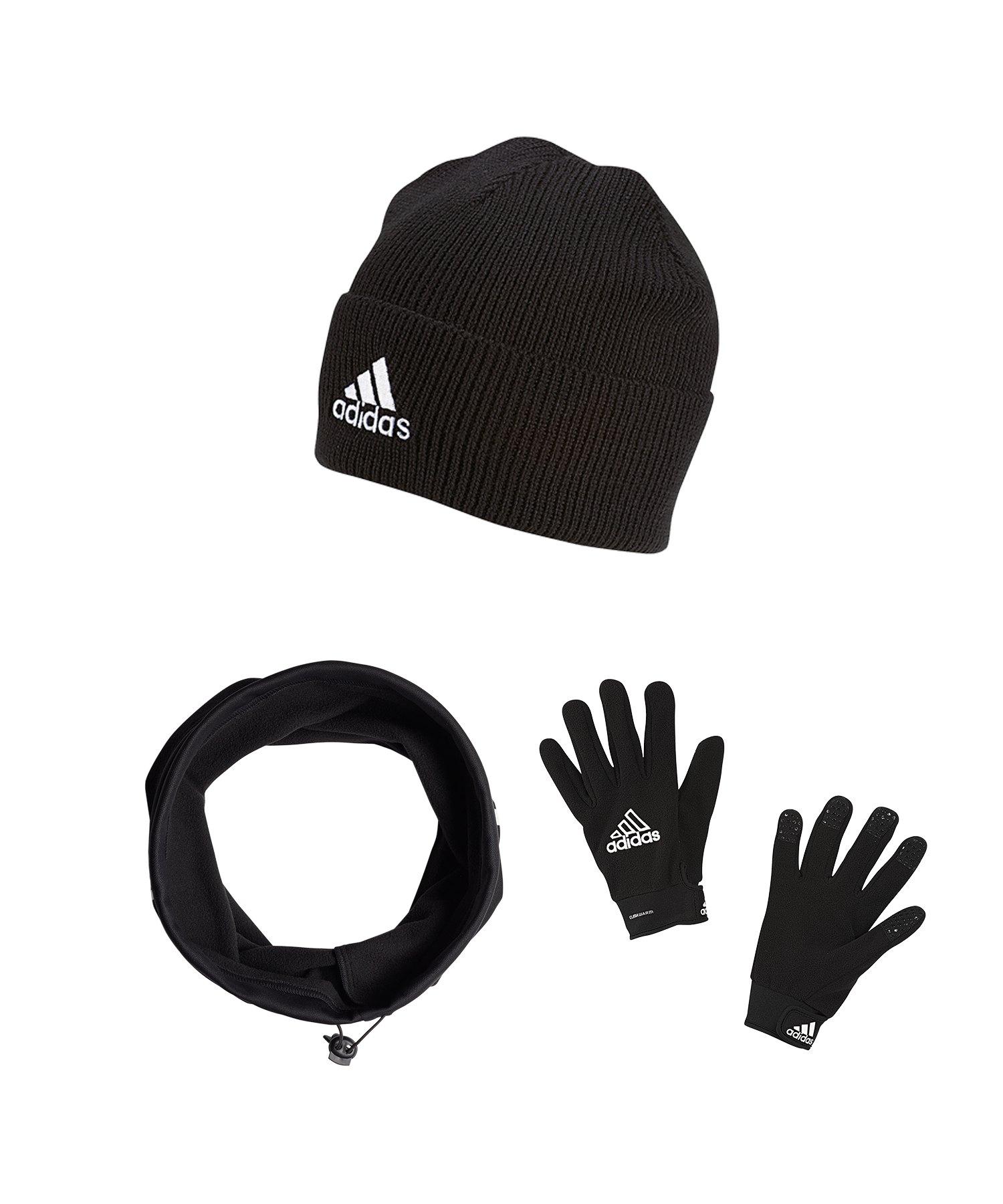 adidas Tiro Clima Warm 3er Winter Set Schwarz - schwarz