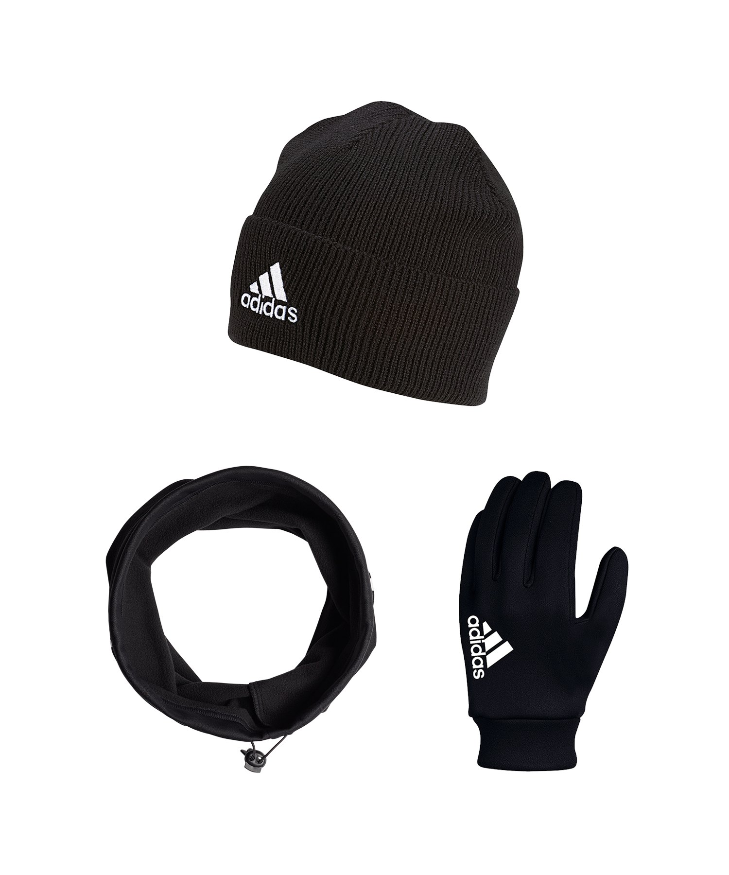 adidas Tiro Clima Proof 3er Winter Set Schwarz - schwarz