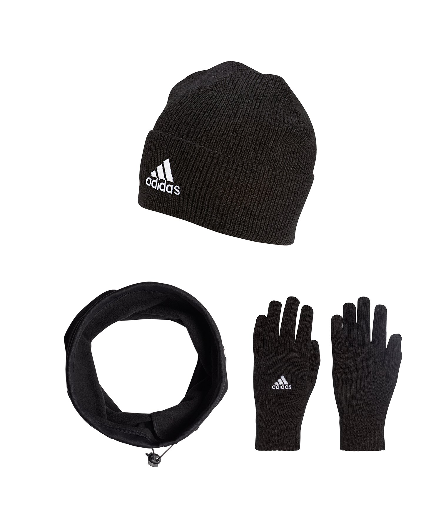 adidas Tiro 3er Winter Set Schwarz - schwarz