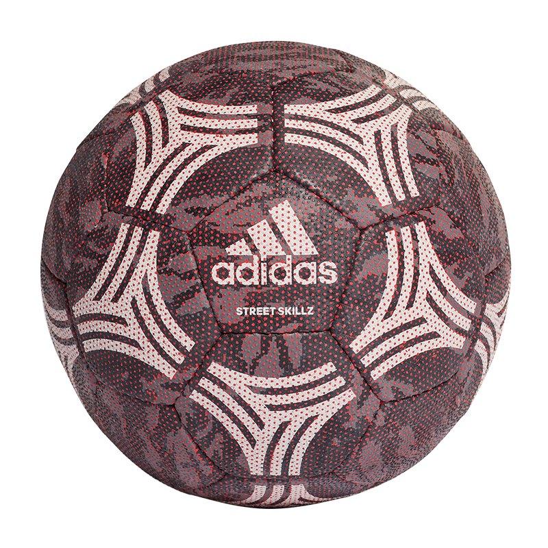 adidas Tango Skillz Streetsoccer Ball Grau Rot - grau