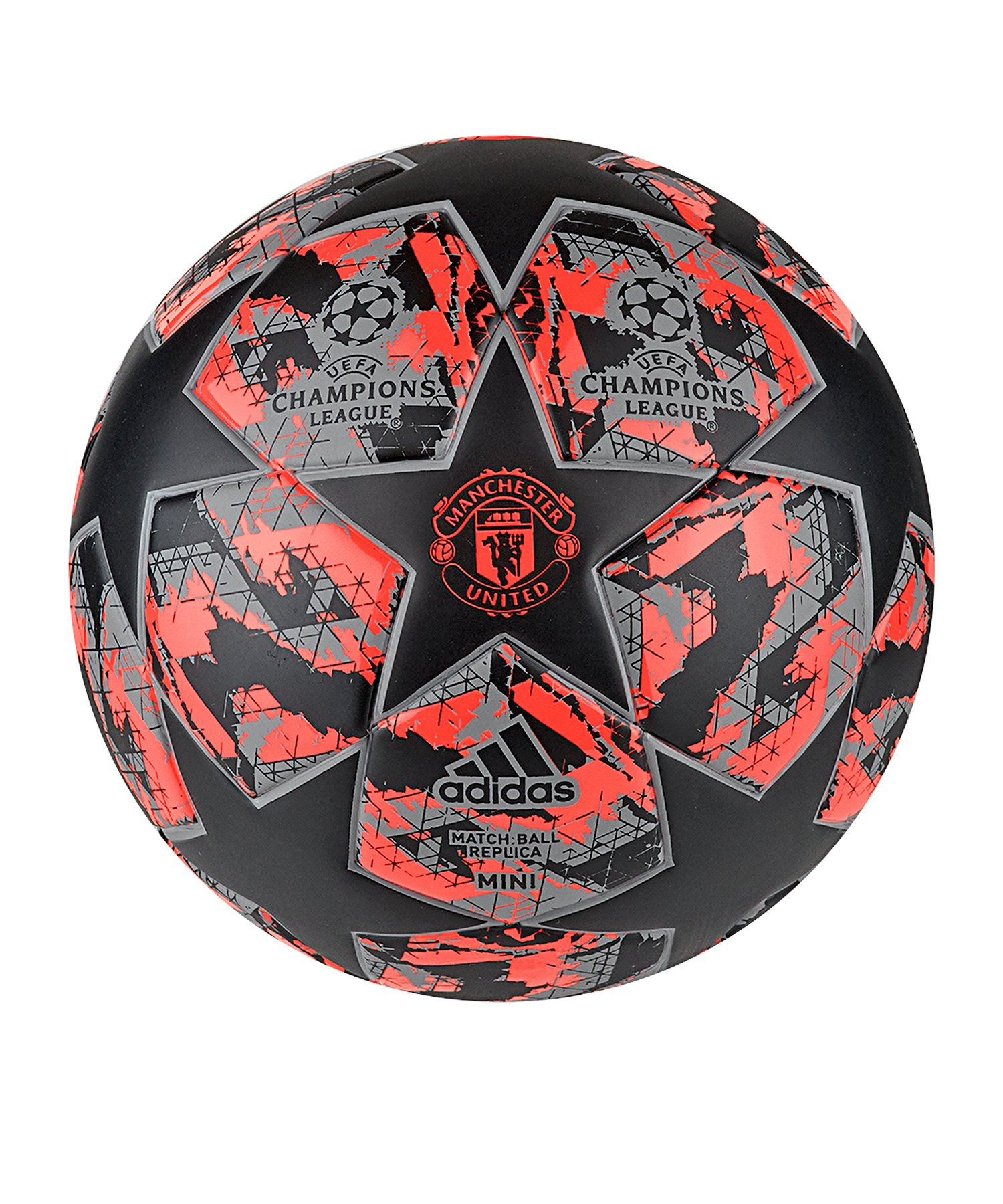 adidas Manchester United Finale Miniball Rot - schwarz