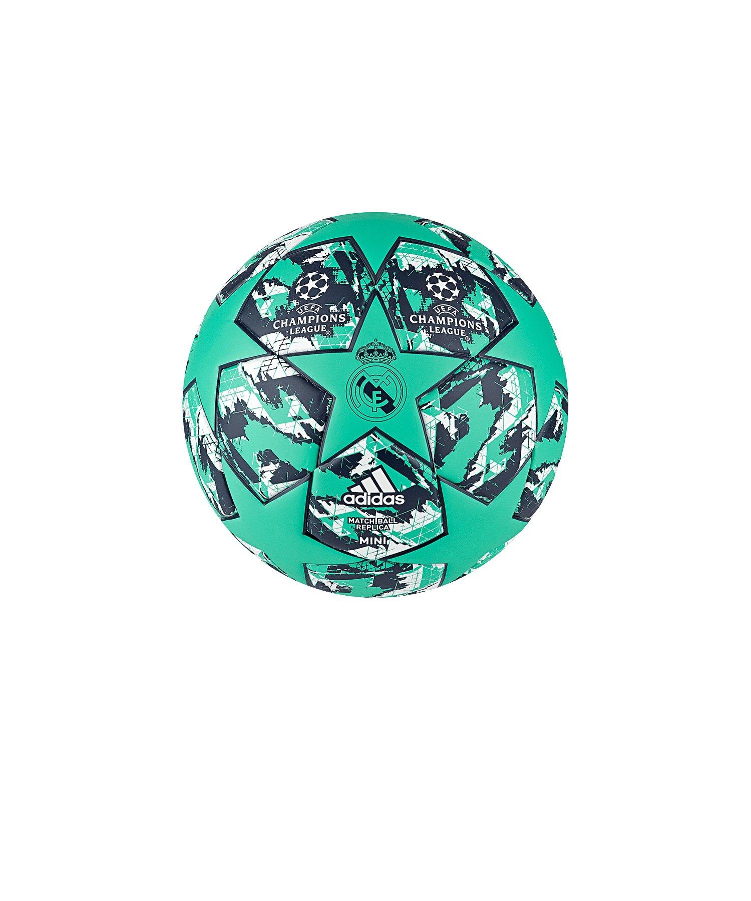 adidas Finale RM Miniball Grün Blau - gruen