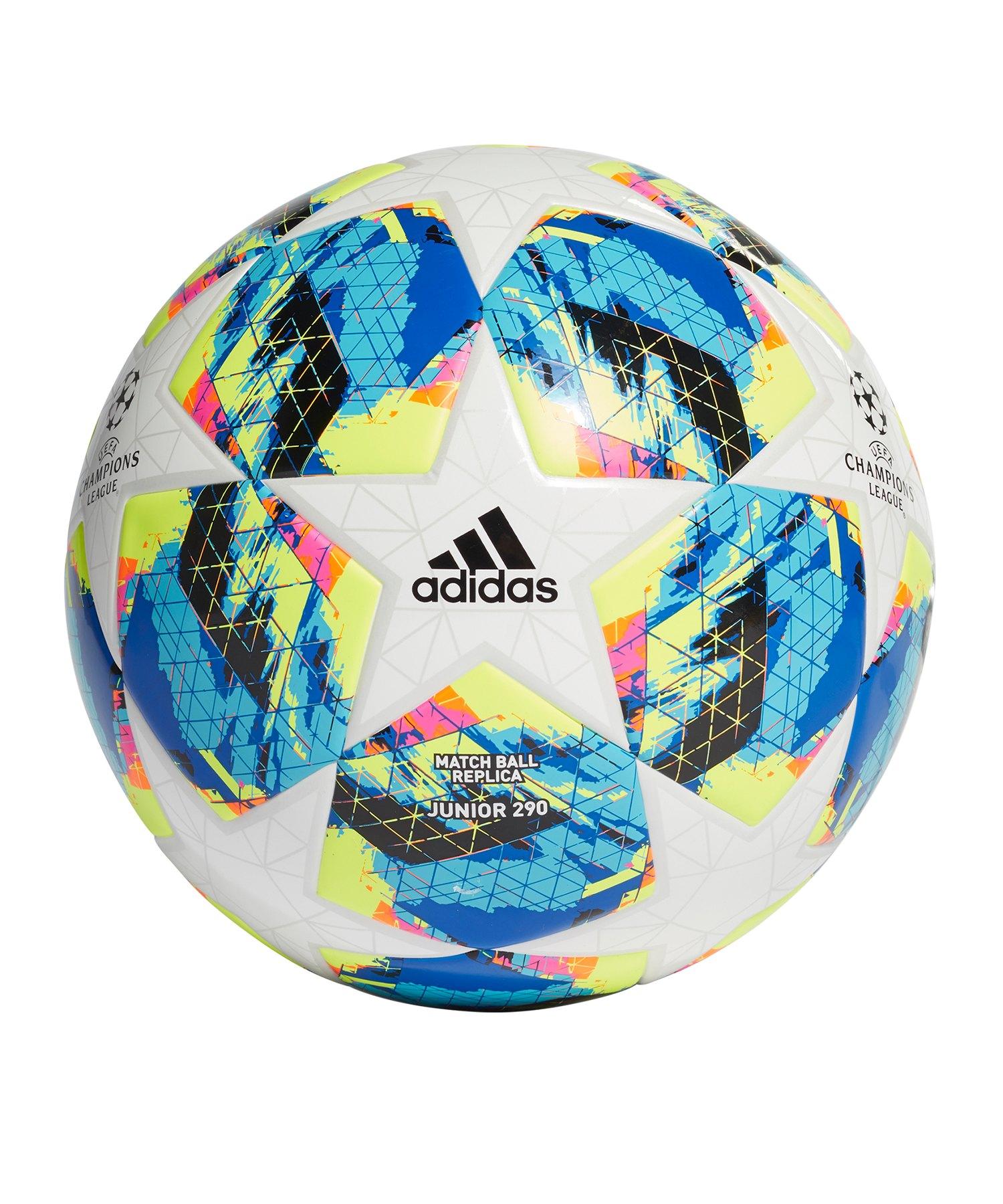 adidas Finale Lightball 290 Gramm Weiss Türkis - weiss