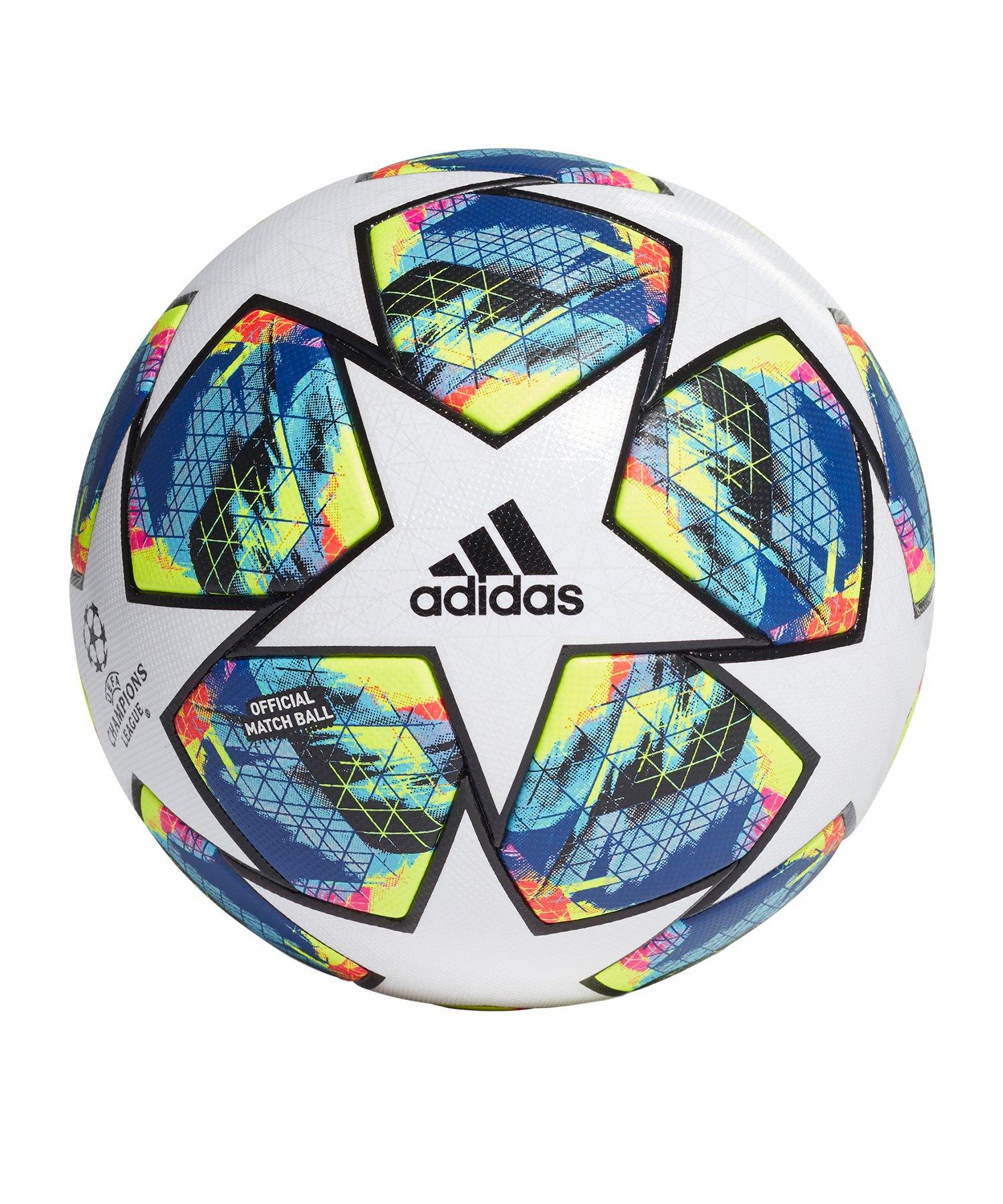 adidas Finale OMB Spielball Weiss Gelb - weiss
