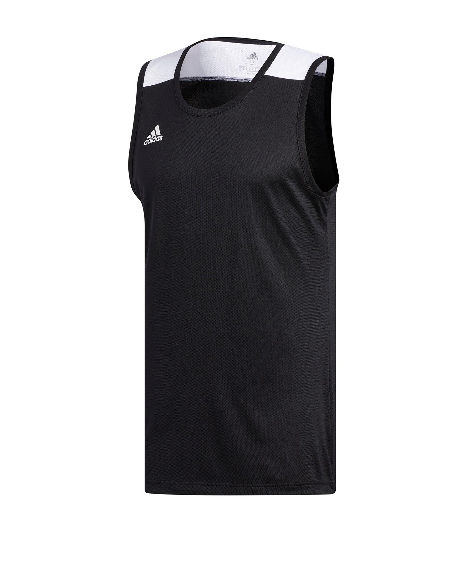 adidas TMS Game Shirt ärmellos Schwarz - schwarz