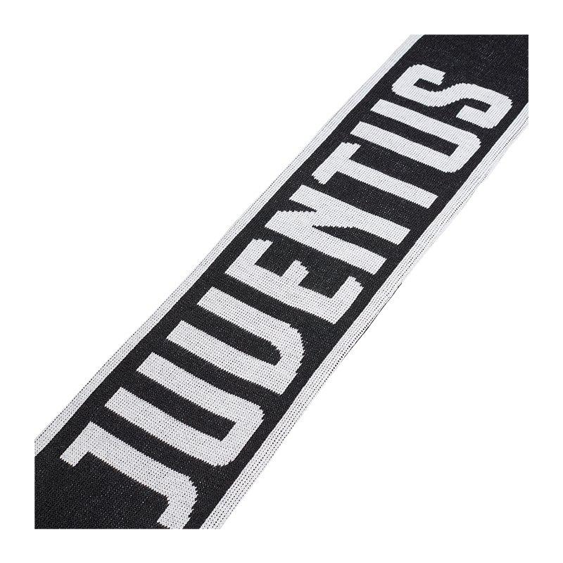 adidas Juventus Turin Fanschal Schwarz Weiss - Schwarz