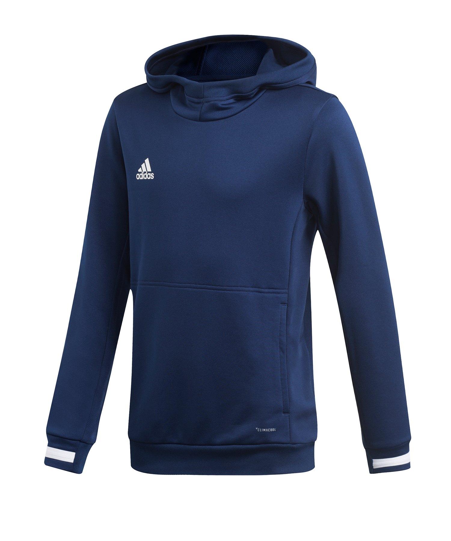 adidas Team 19 Kapuzensweatshirt Kids Blau - blau