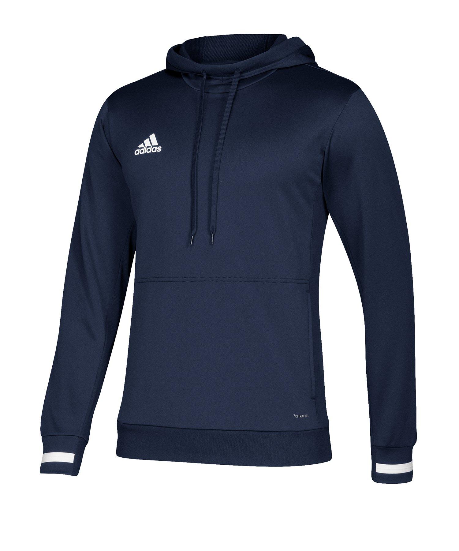 adidas Team 19 Kapuzensweatshirt Blau Weiss - blau