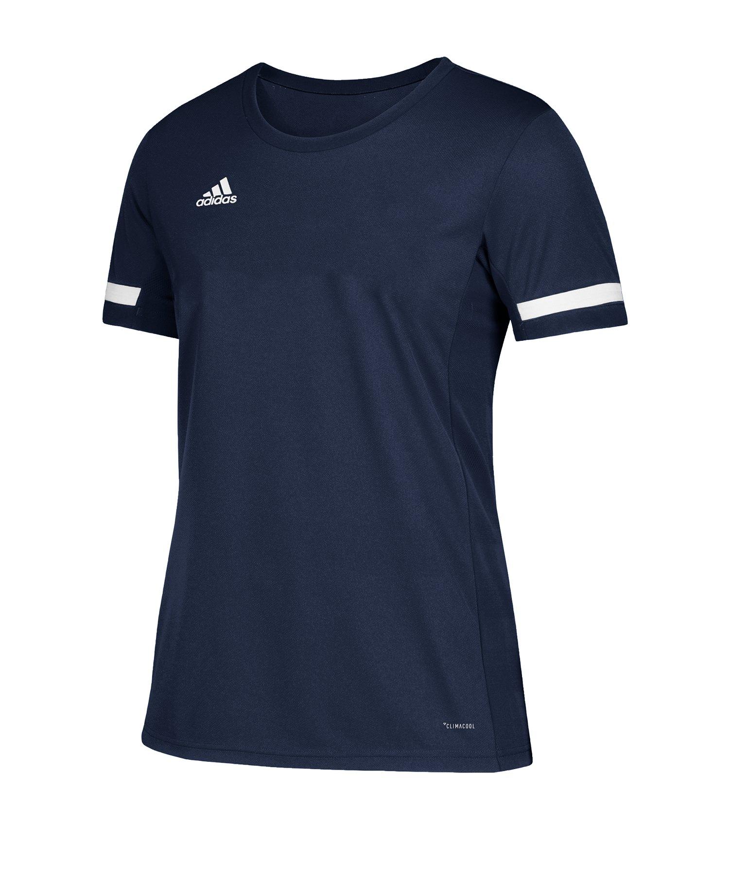 adidas Team 19 Trikot kurzarm Kids Blau Weiss - blau