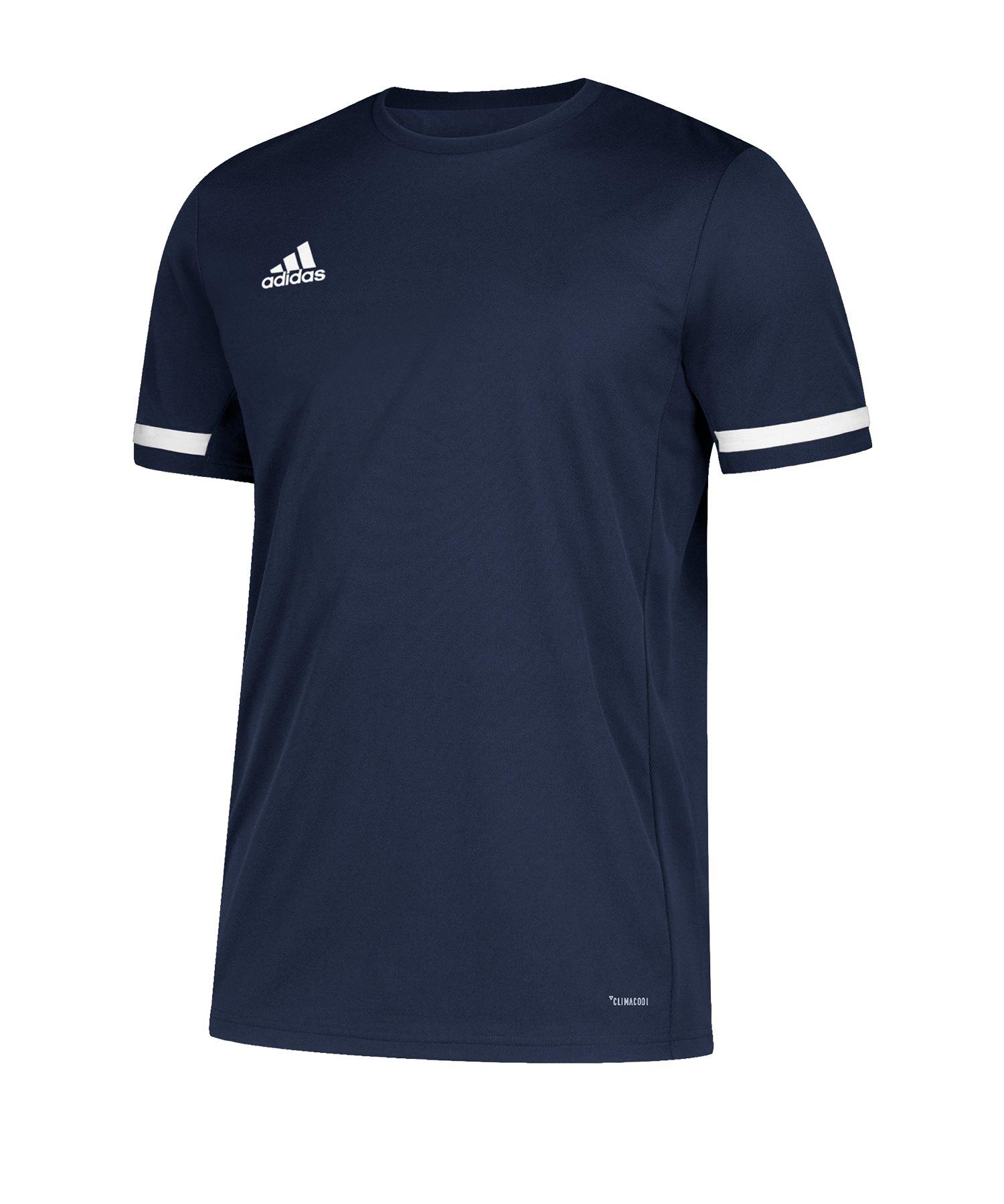 adidas Team 19 Trikot kurzarm Blau Weiss - blau