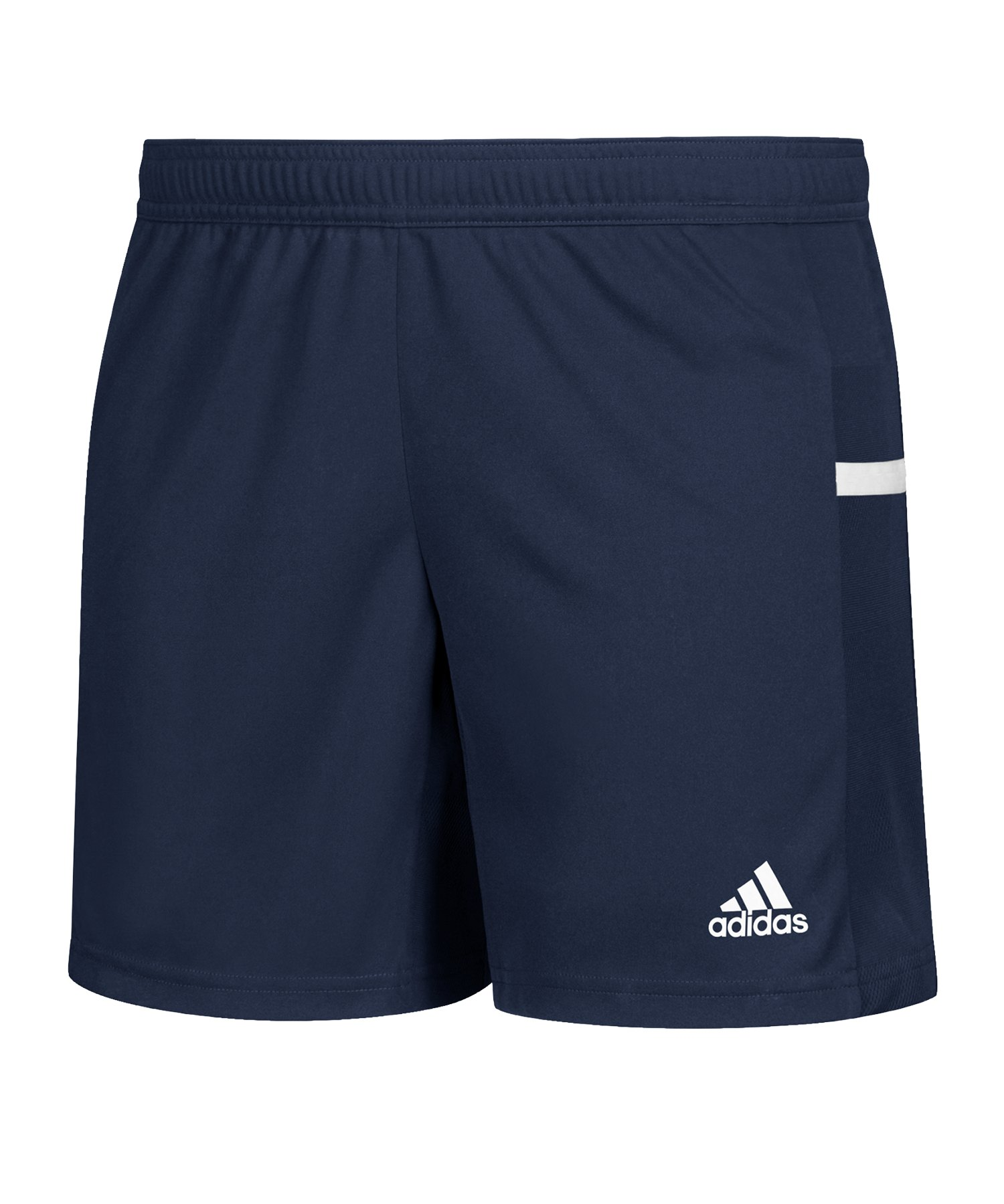 adidas Team 19 Knitted Short Damen Blau Weiss - blau