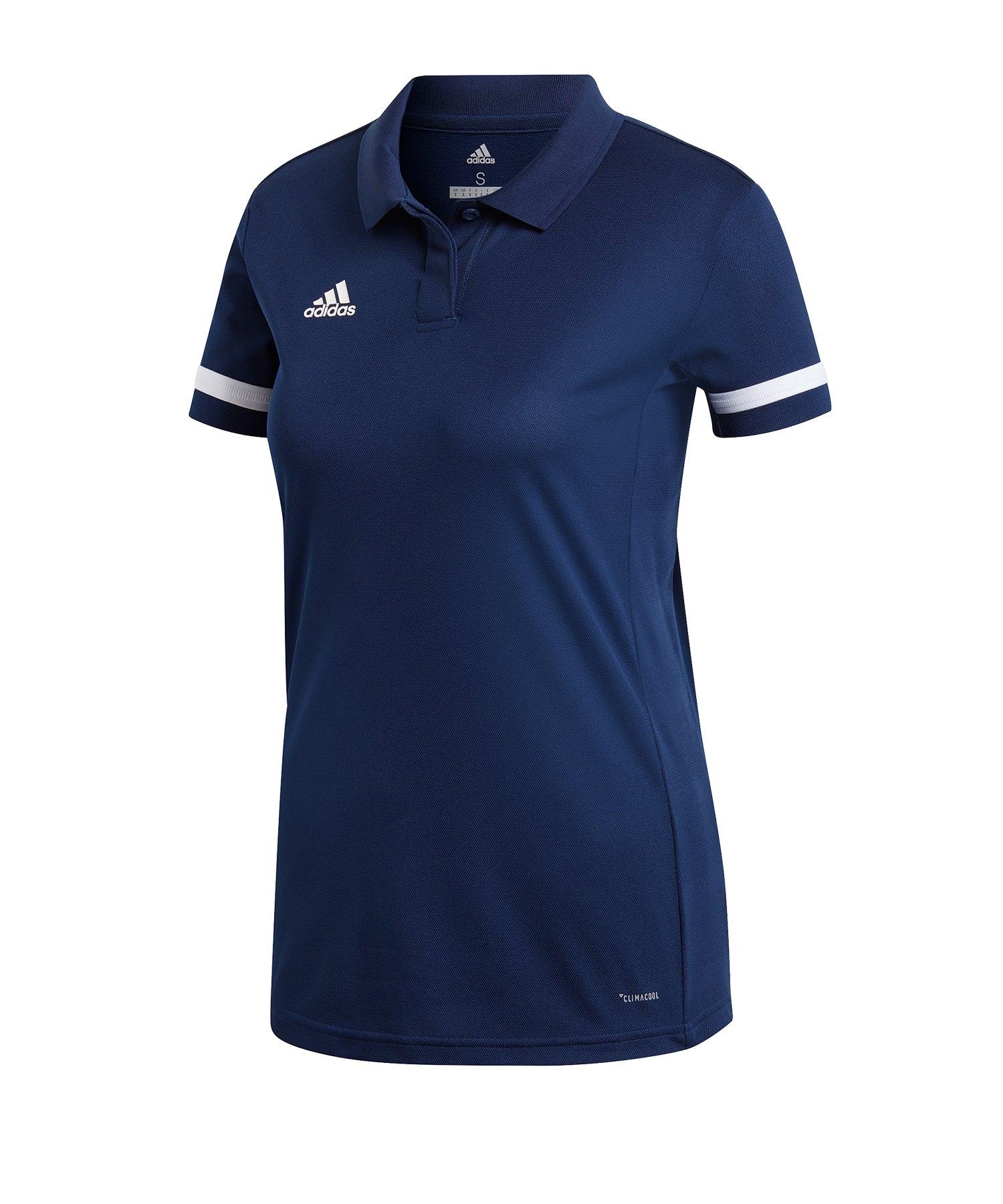 adidas Team 19 Poloshirt Damen Blau Weiss - blau