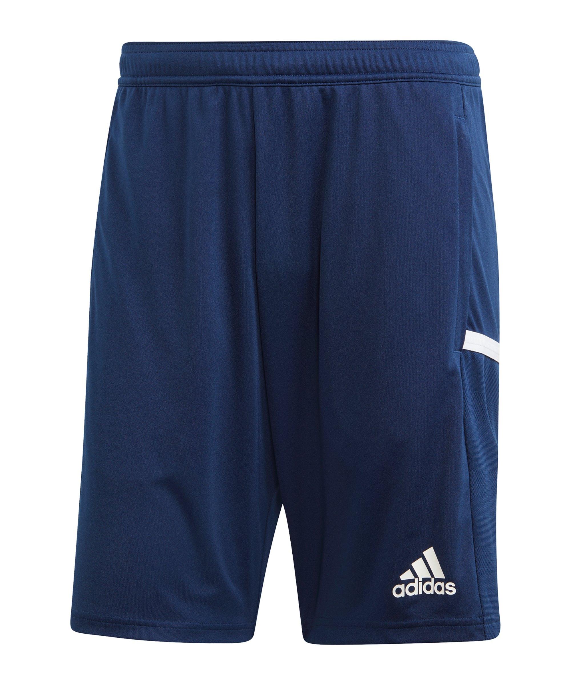 adidas Team 19 3-Pocket Short Blau - blau
