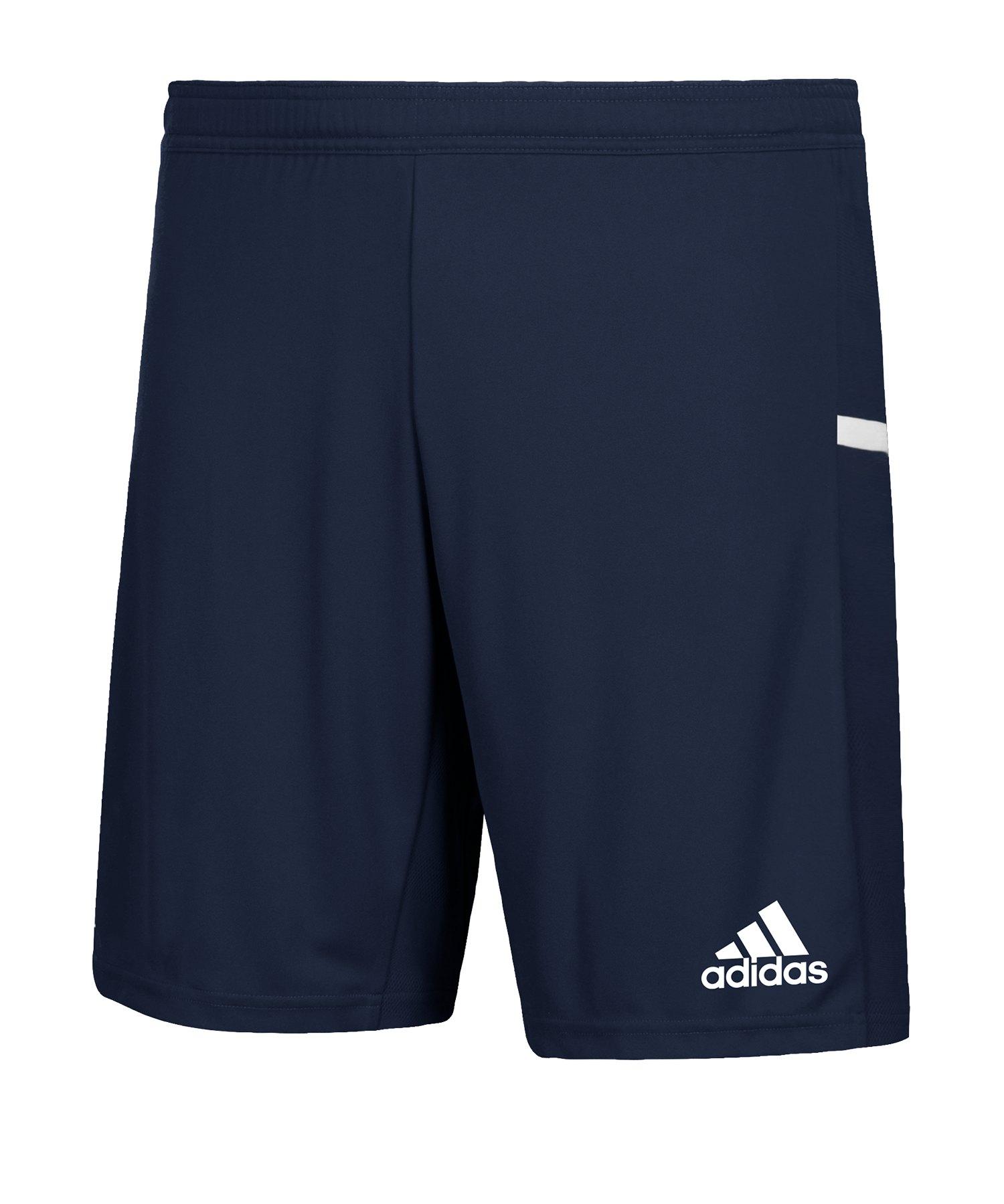 adidas Team 19 Knitted Short Kids Blau Weiss - blau