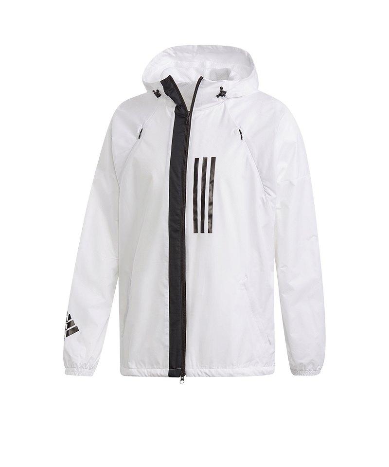 adidas Wind Fleece Jacket Jacke Weiss - weiss