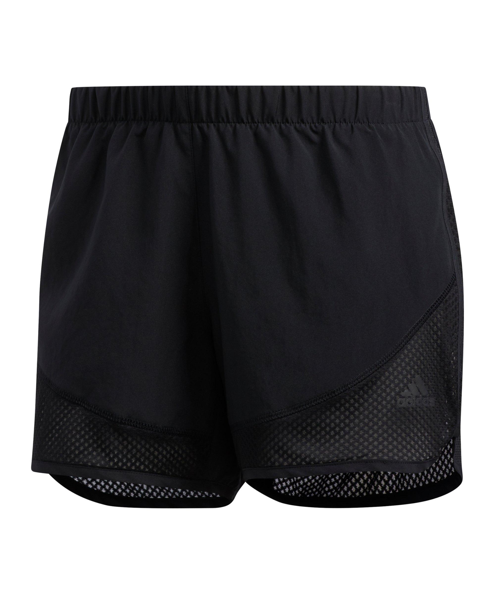 adidas M20 Short Speed Running Damen Schwarz - schwarz