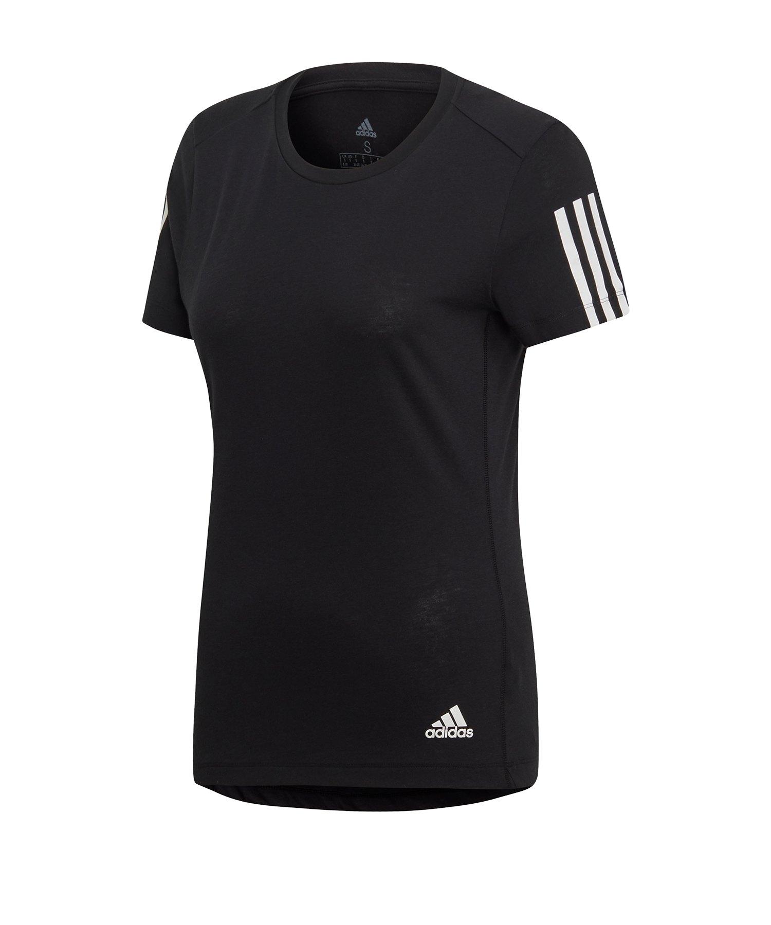 adidas Run It Tee T-Shirt Running Damen Schwarz - schwarz