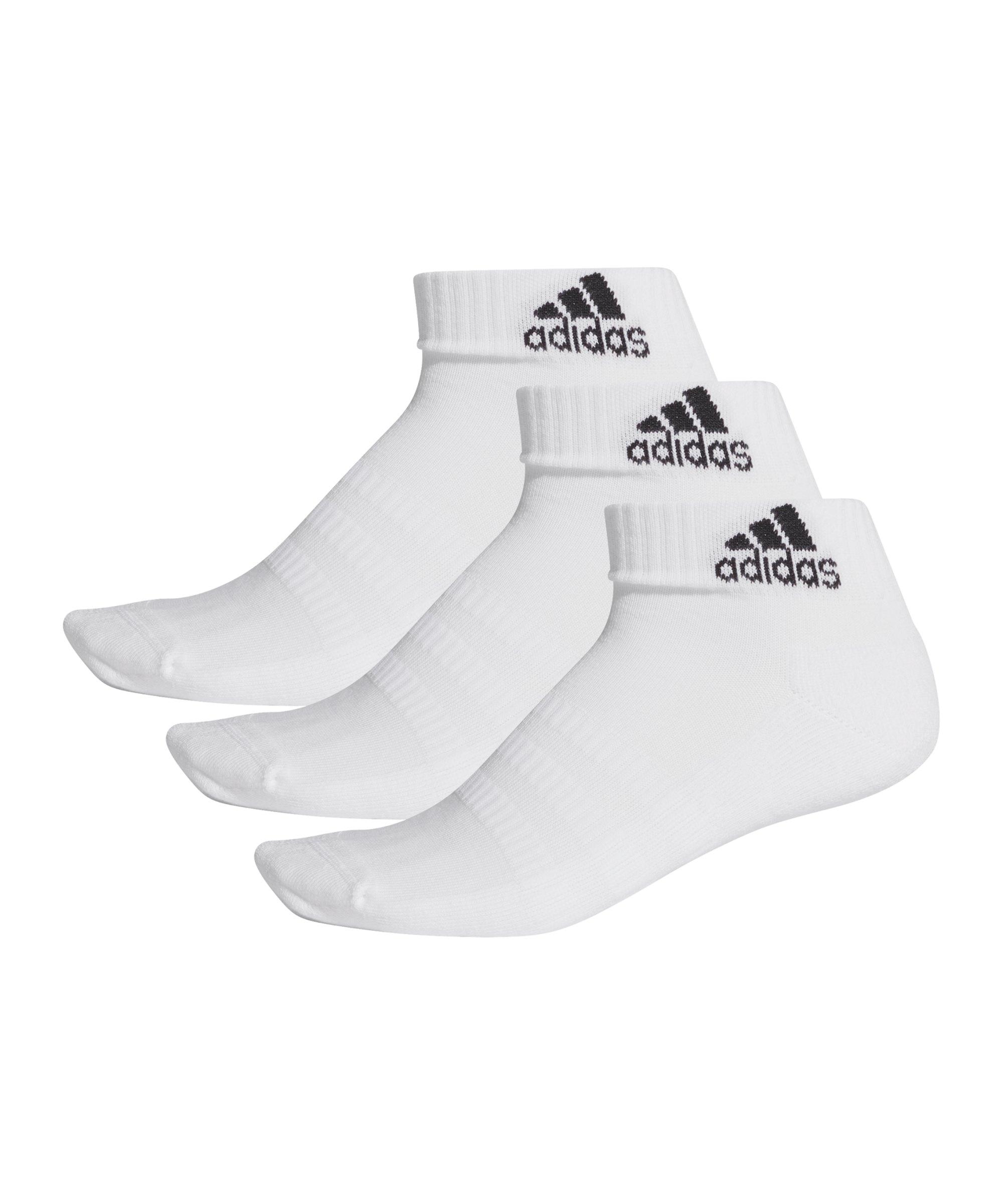 adidas Cushioned Ankle Socken 3er Pack Weiss - weiss