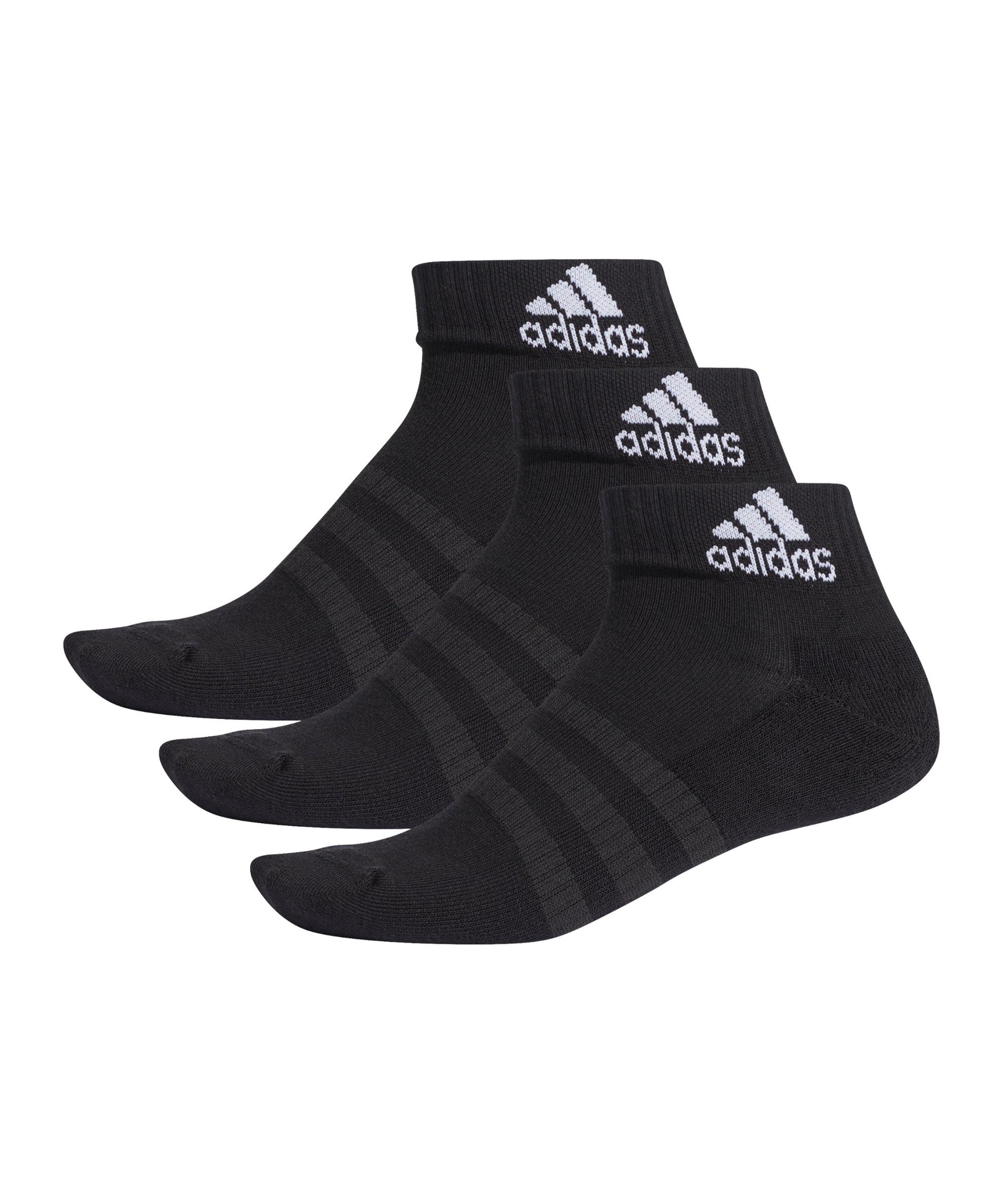 adidas Ankle Socken 3er Pack Schwarz - schwarz