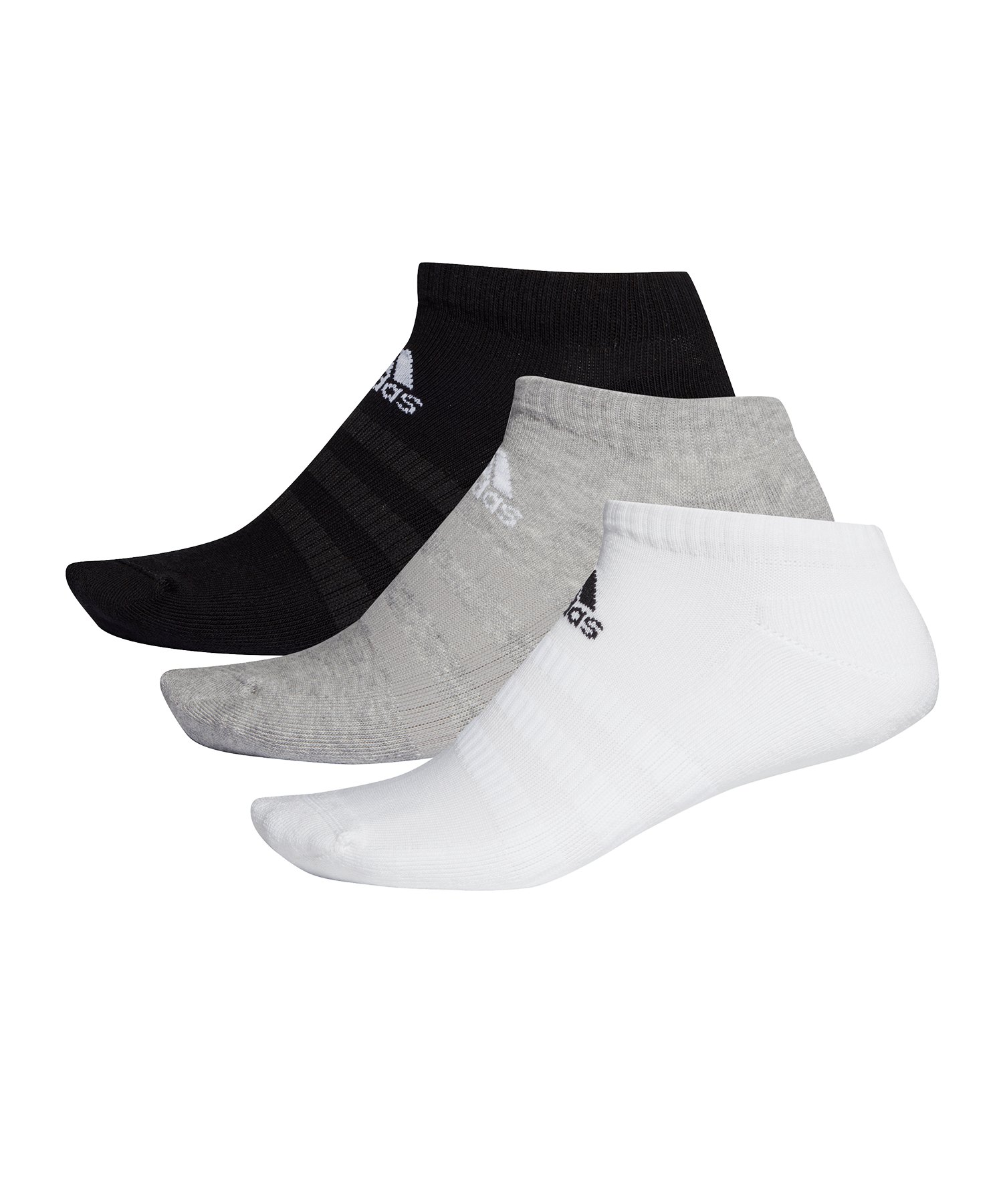 adidas Cush Low 3er Pack Socken Schwarz Weiss Grau - schwarz