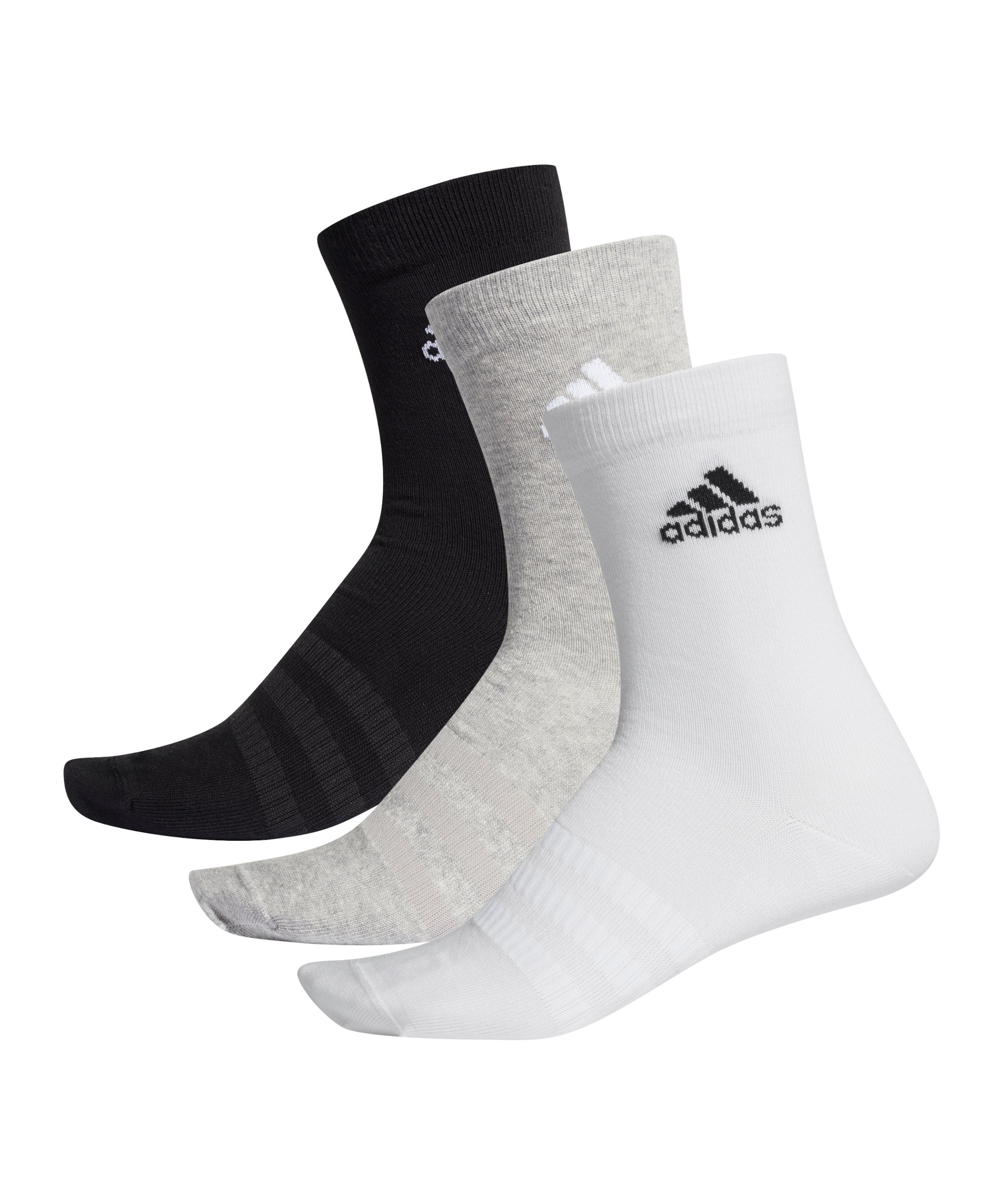 adidas Light Crew Socken 3er Pack Grau - grau